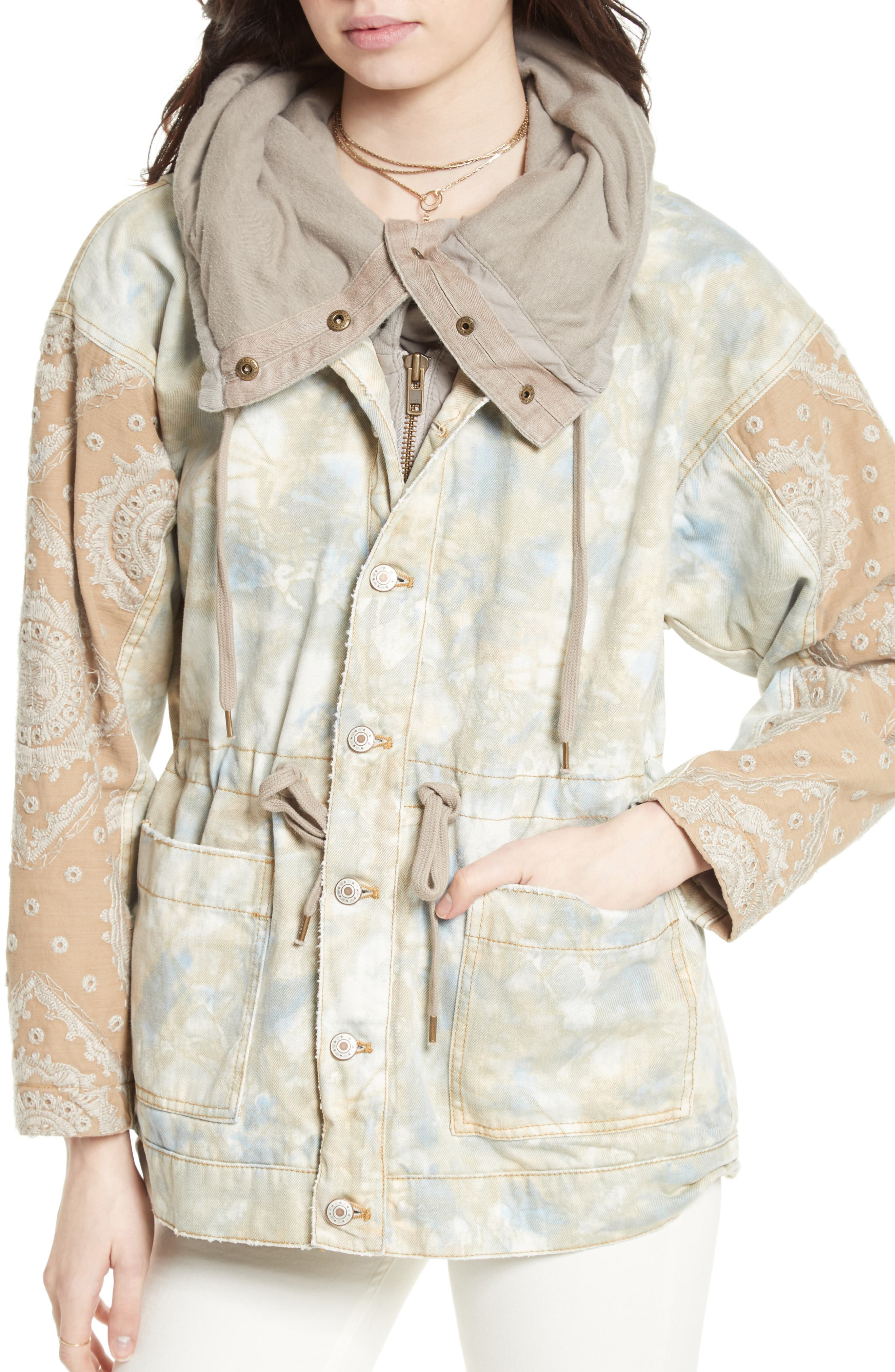 FREE PEOPLE,                             Layered Parka,                             Alternate thumbnail 4, color,                             250