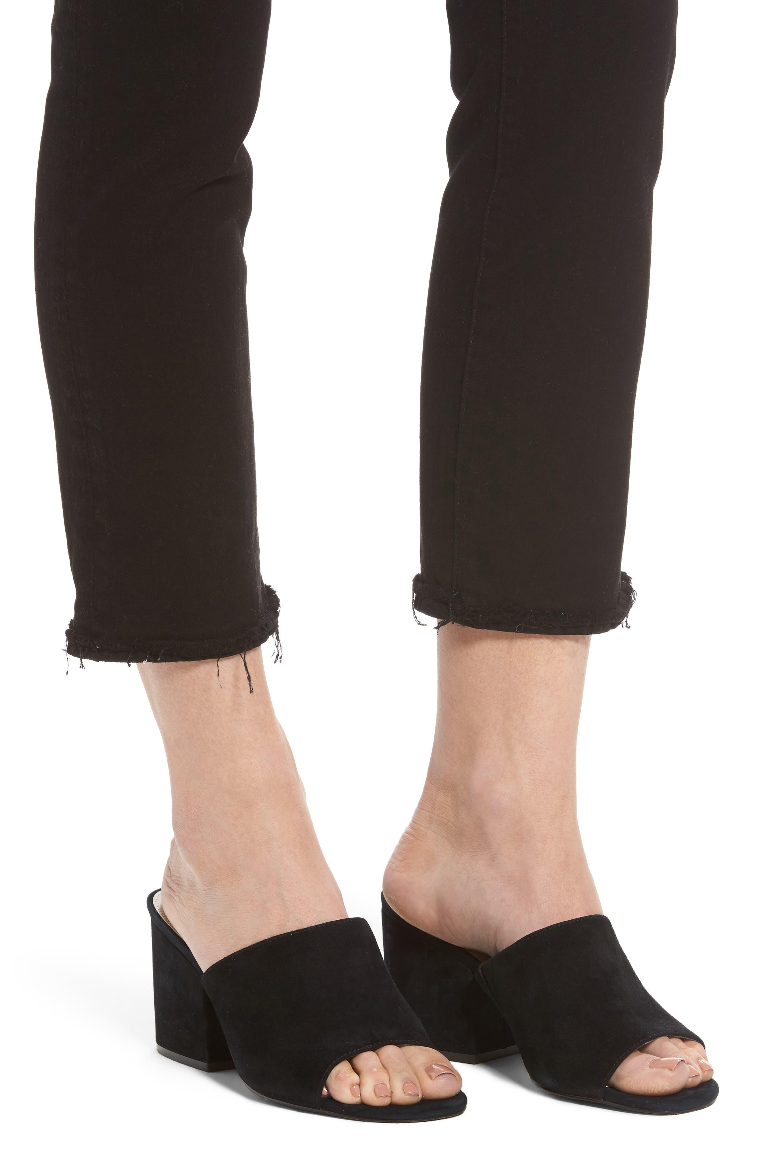 Mara Straight Leg Jeans,                             Alternate thumbnail 4, color,                             001