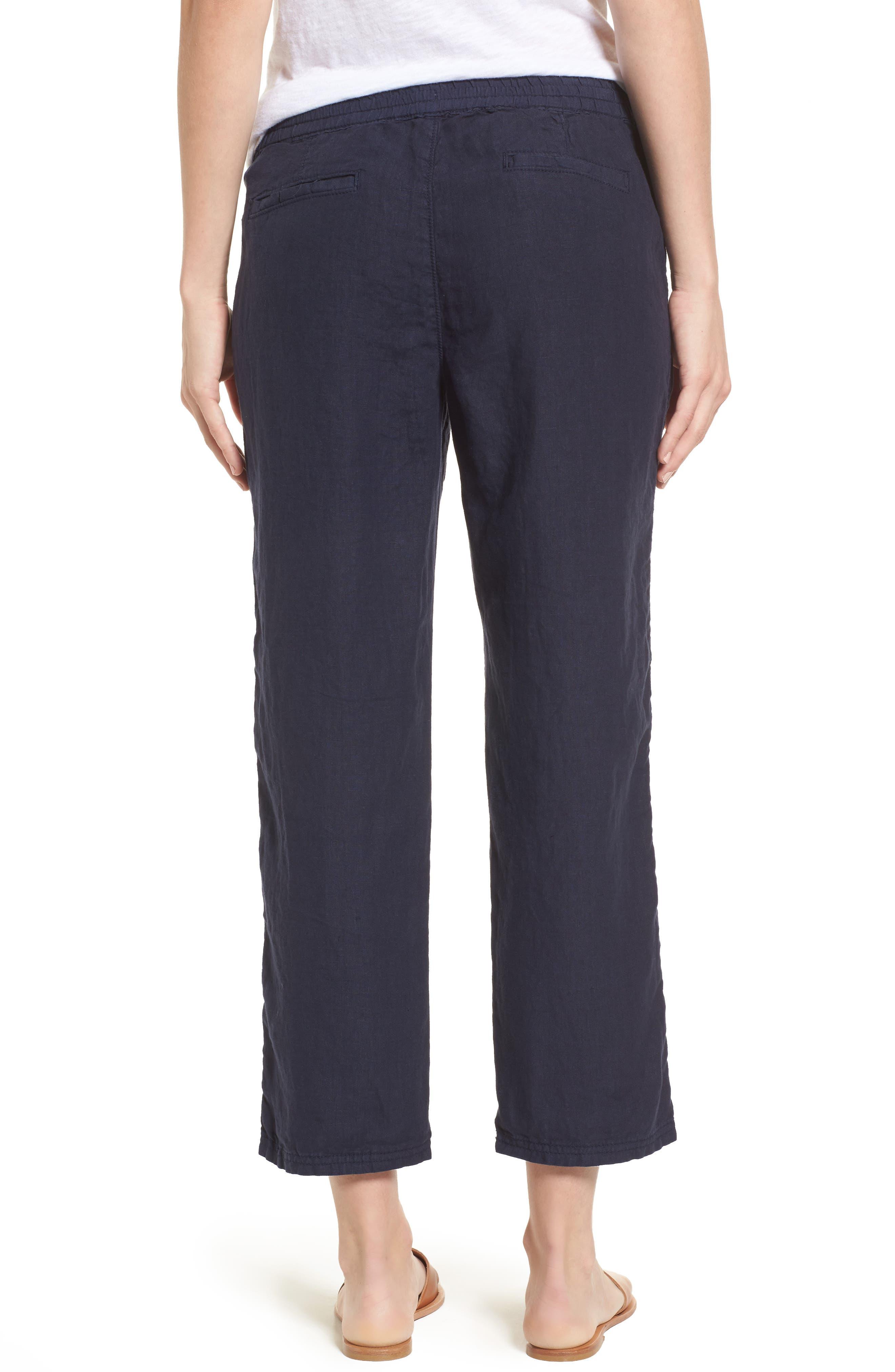 Linen Crop Pants,                             Alternate thumbnail 13, color,