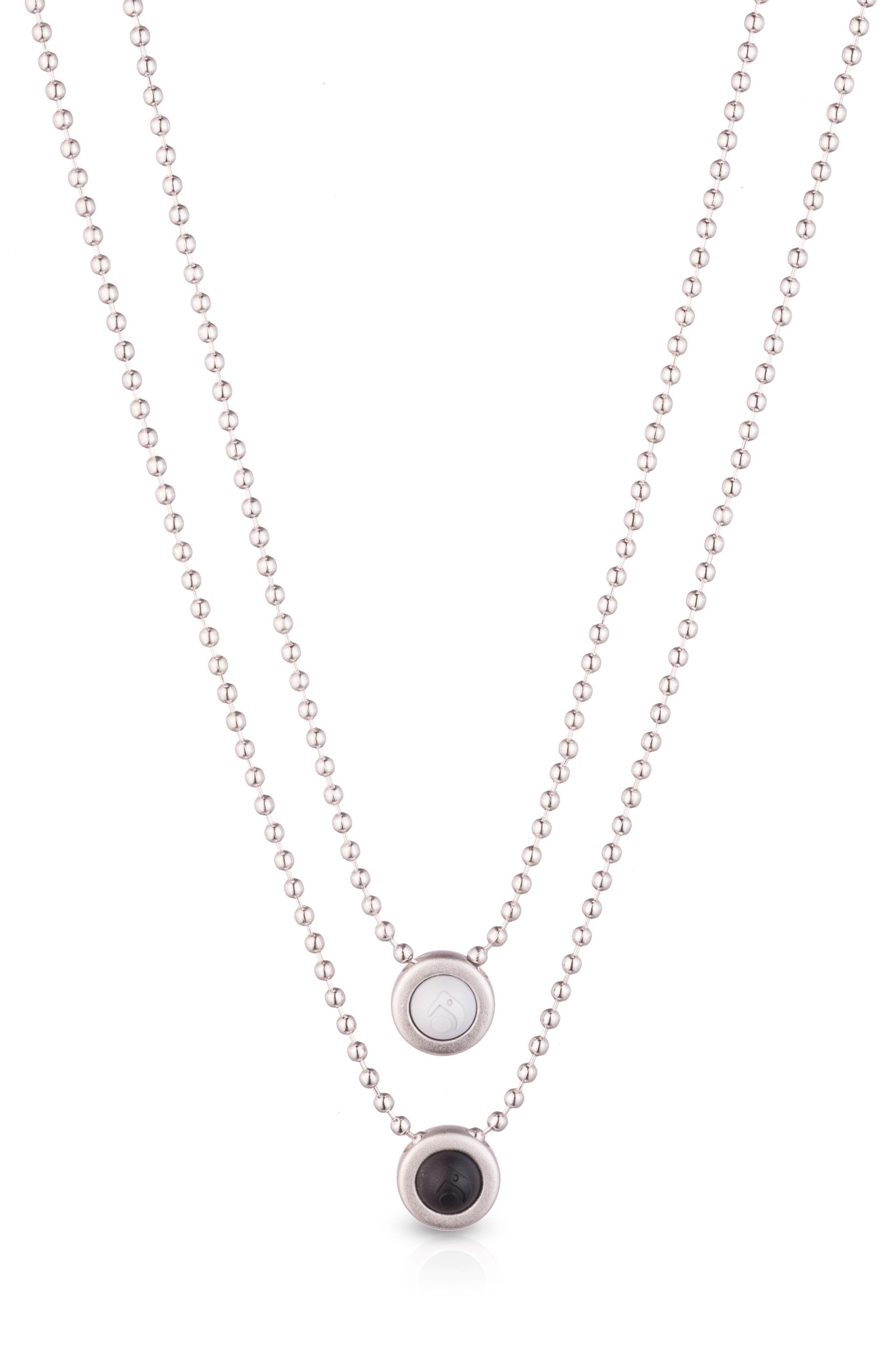 Double Ball Chain Pendant Necklace,                             Main thumbnail 2, color,
