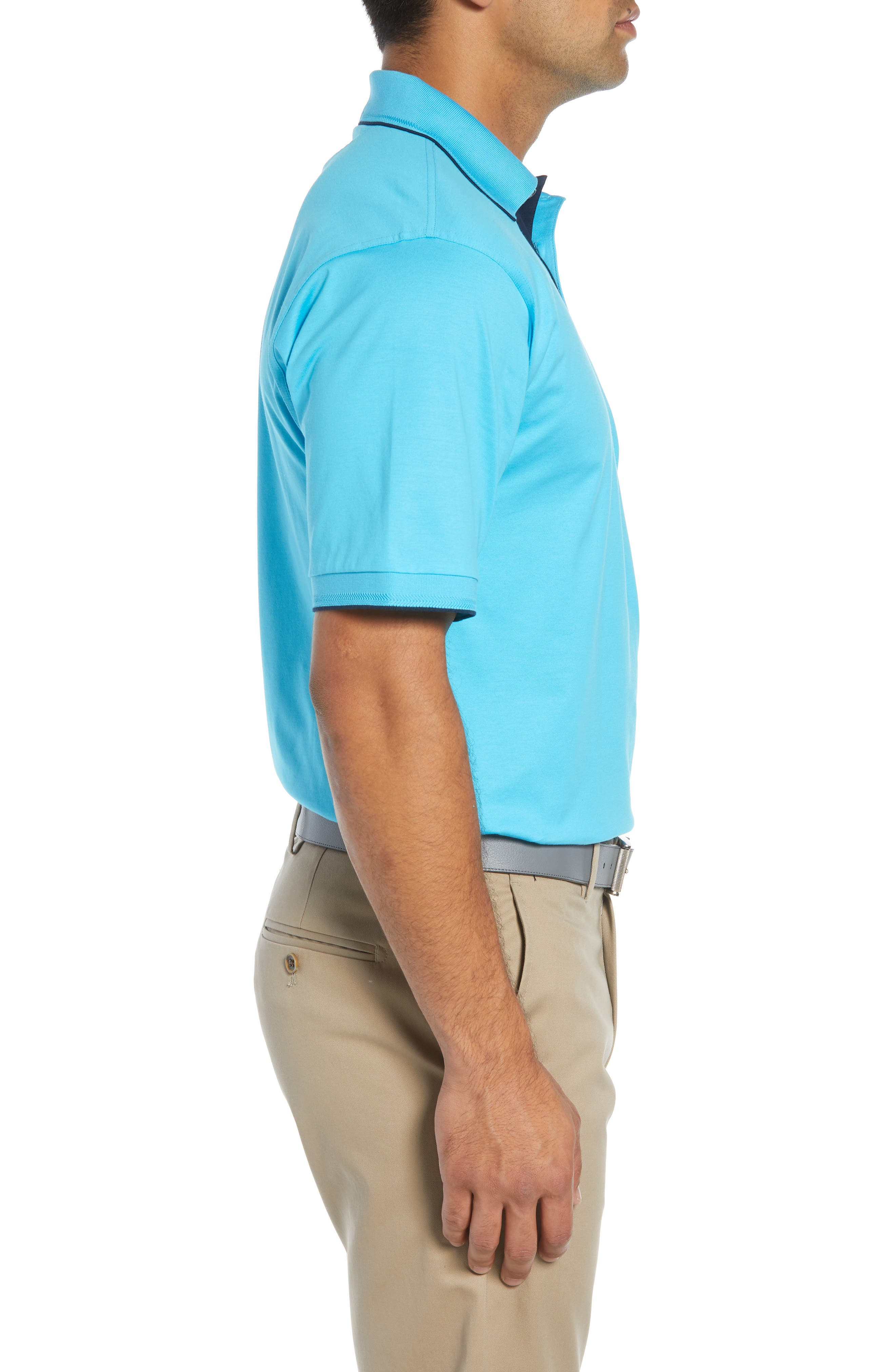Solid Tipped Polo,                             Alternate thumbnail 3, color,                             BLUE