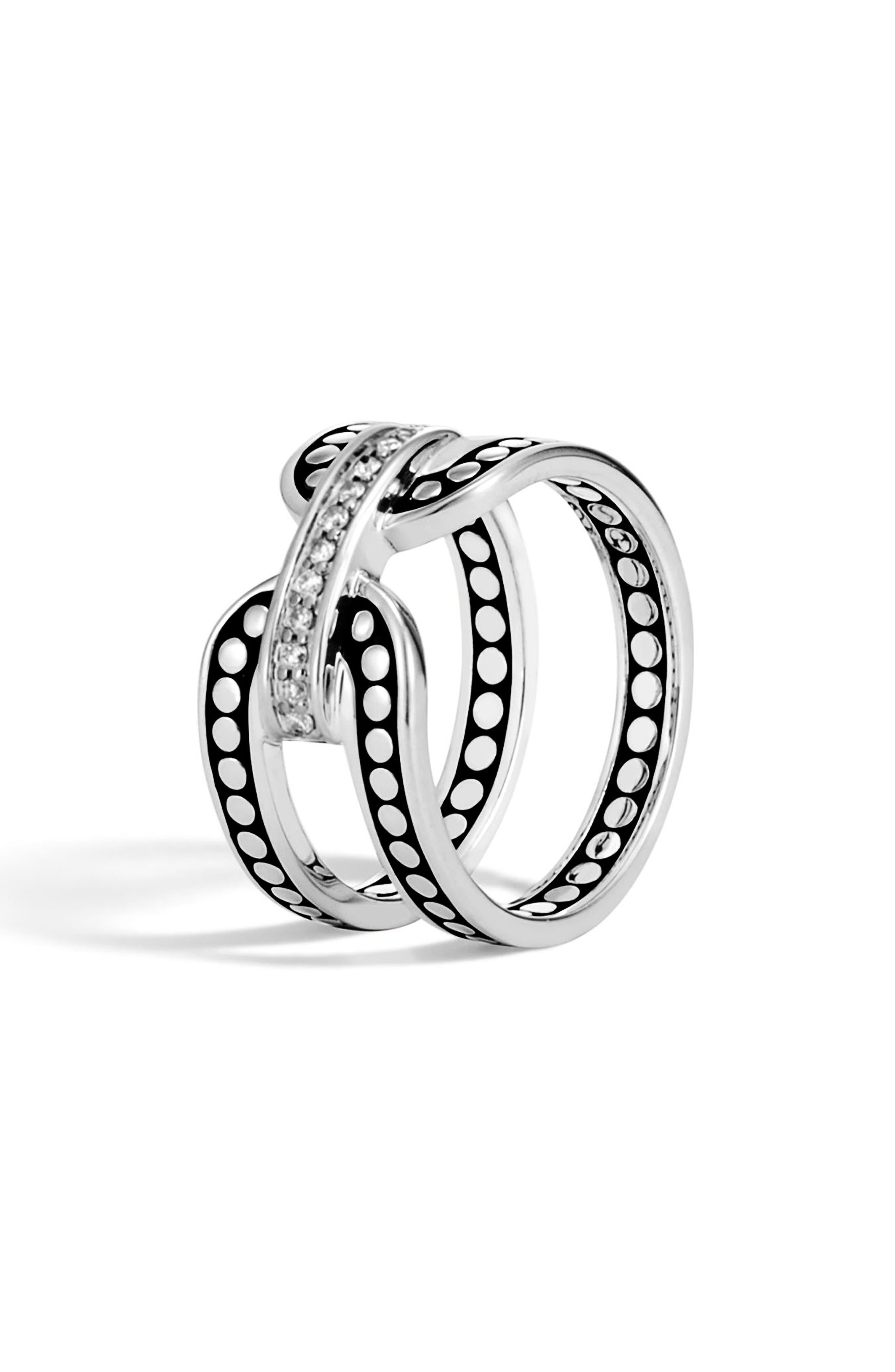Dot Pavé Diamond Openwork Ring,                             Main thumbnail 1, color,                             040
