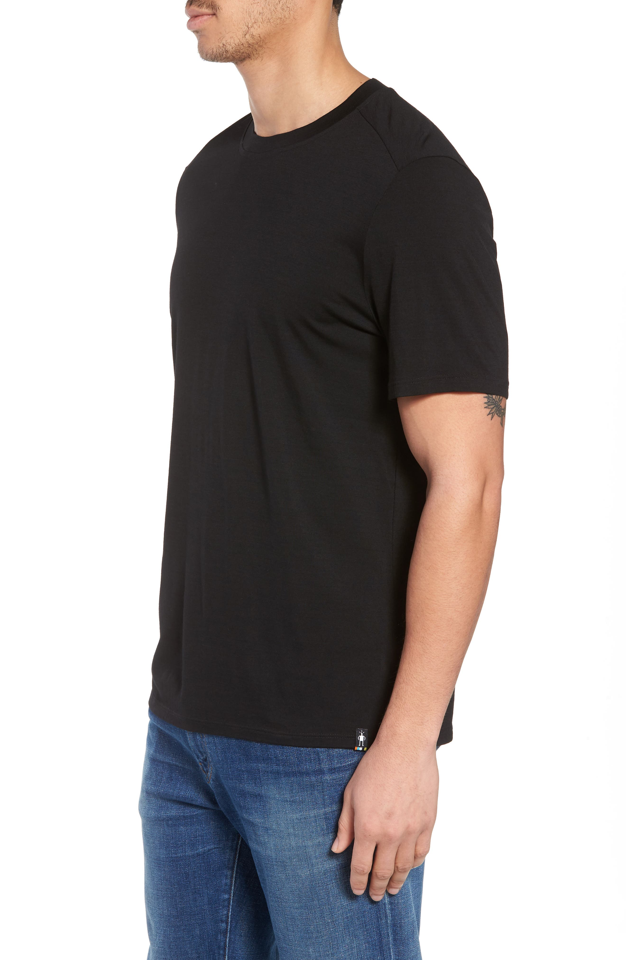 Merino 150 Wool Blend T-Shirt,                             Alternate thumbnail 3, color,                             001