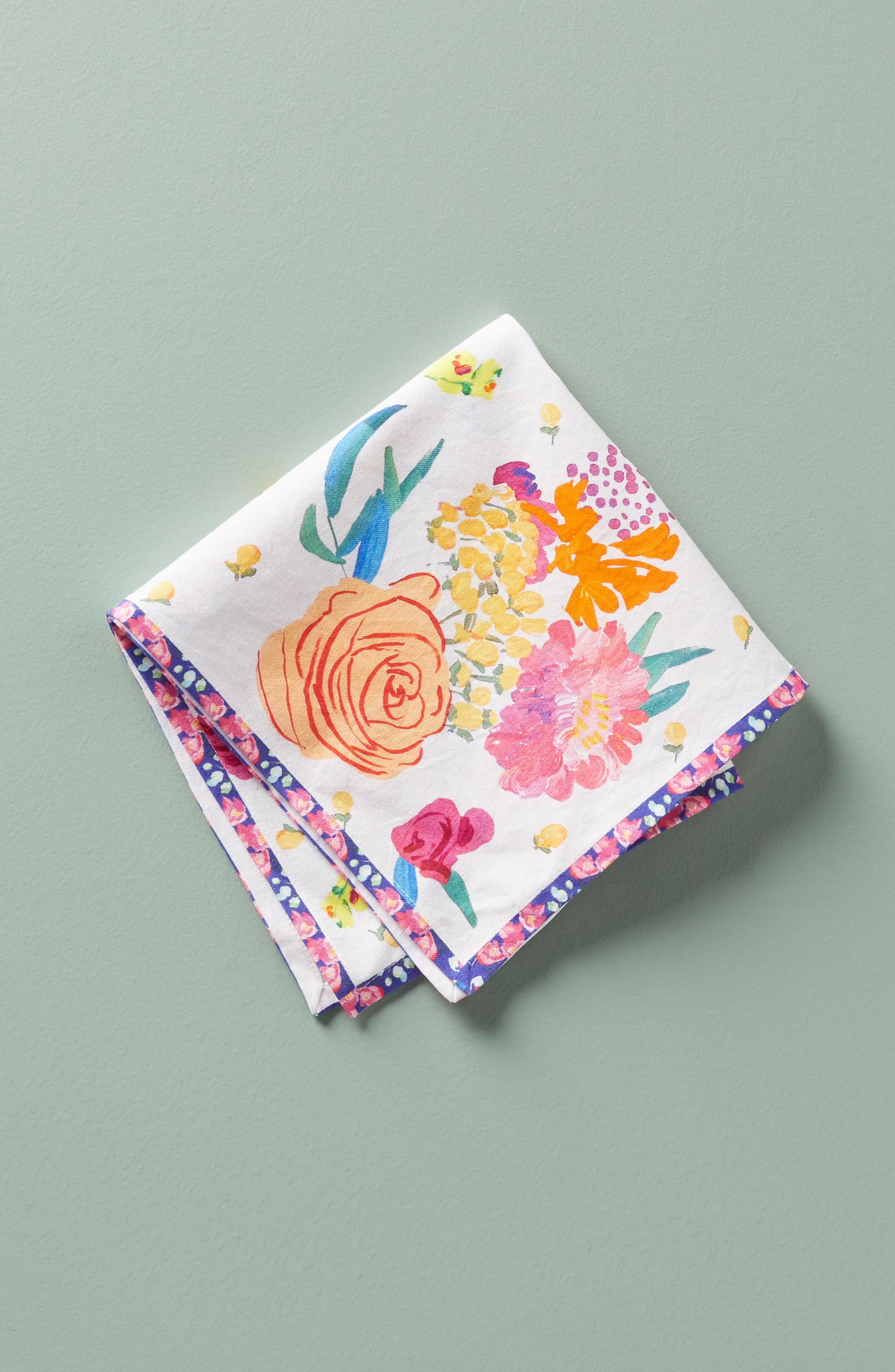 Paint + Petals Napkin,                             Alternate thumbnail 2, color,                             400