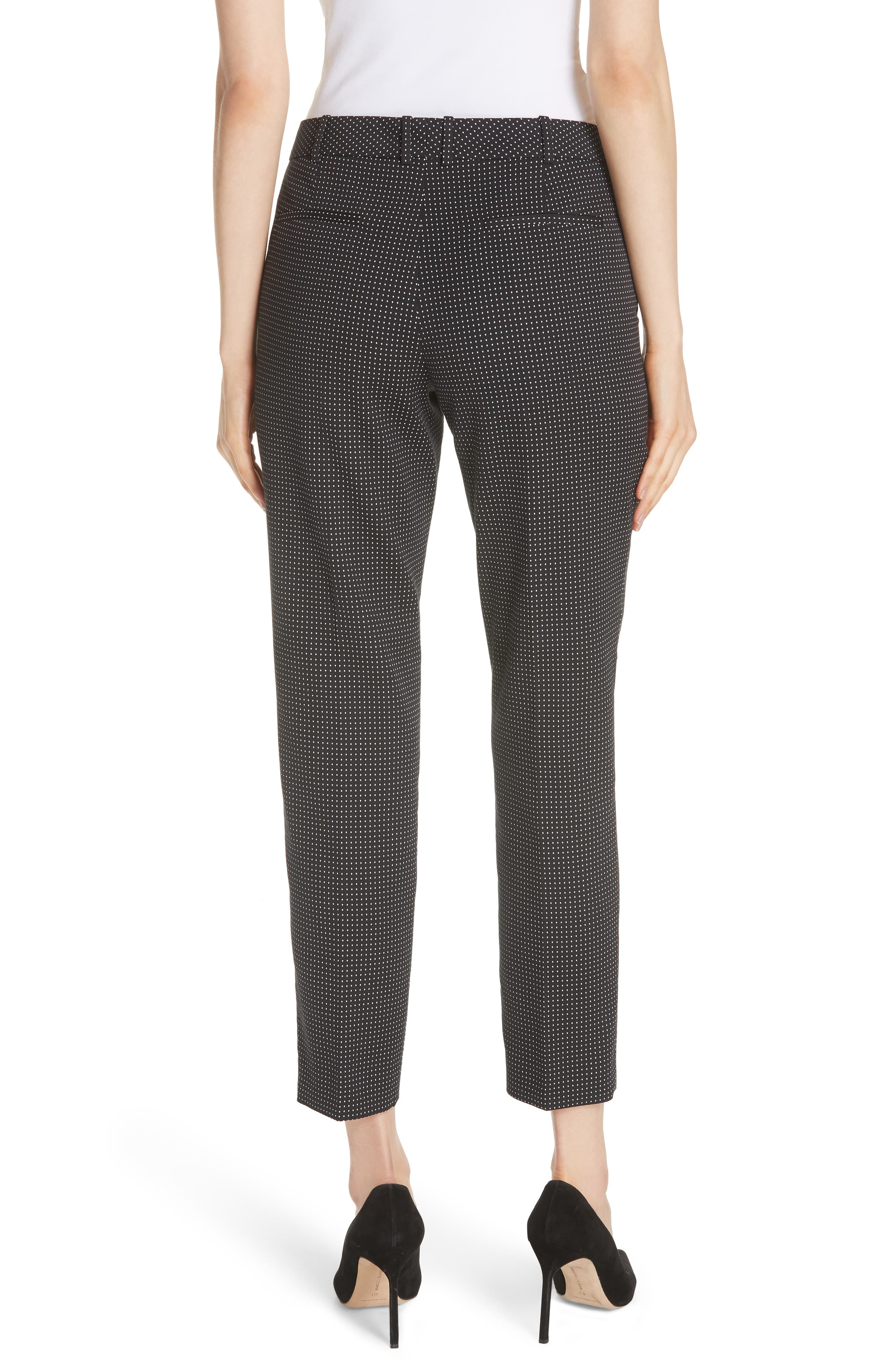 Tanitea Mini Dot Stretch Wool Suit Trousers,                             Alternate thumbnail 2, color,                             BLACK FANTASY