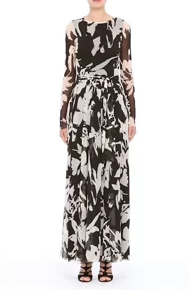 Alternate Video 8  - Fuzzi Bicolor Floral Print Tulle Maxi Dress