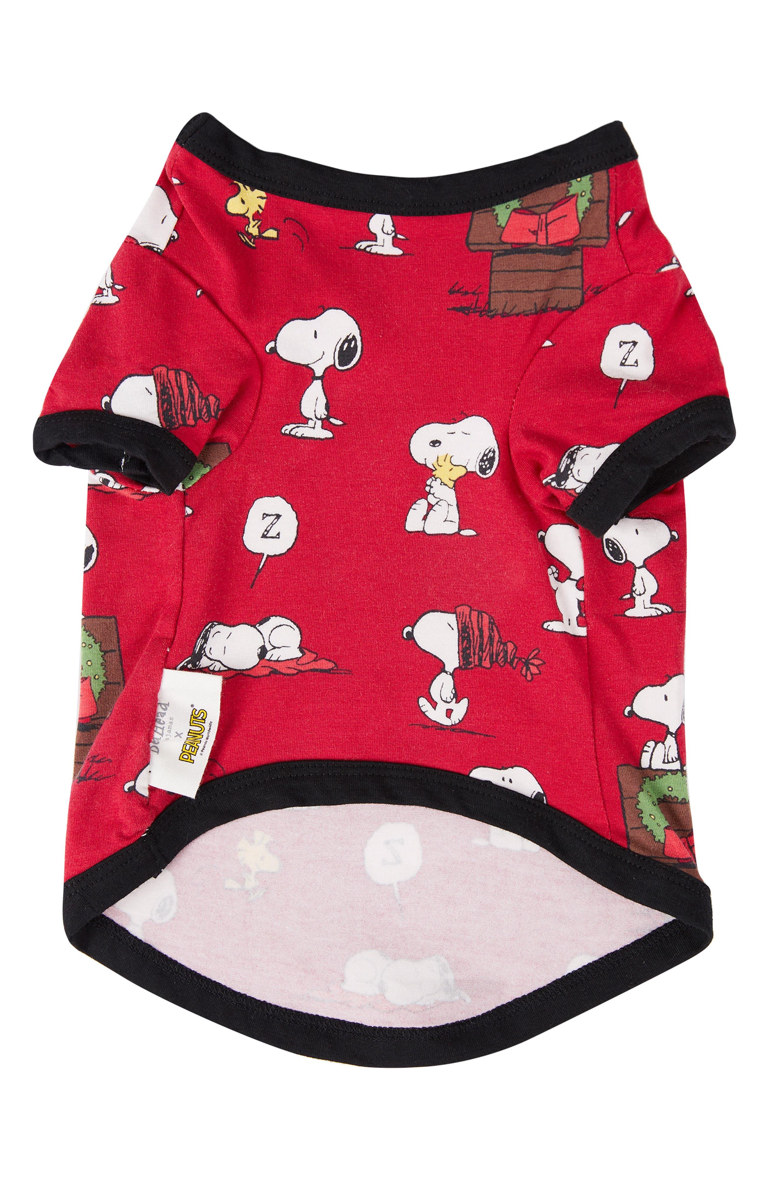 Dog Pajamas,                             Main thumbnail 1, color,                             SNOOPYS CHRISTMAS 4136