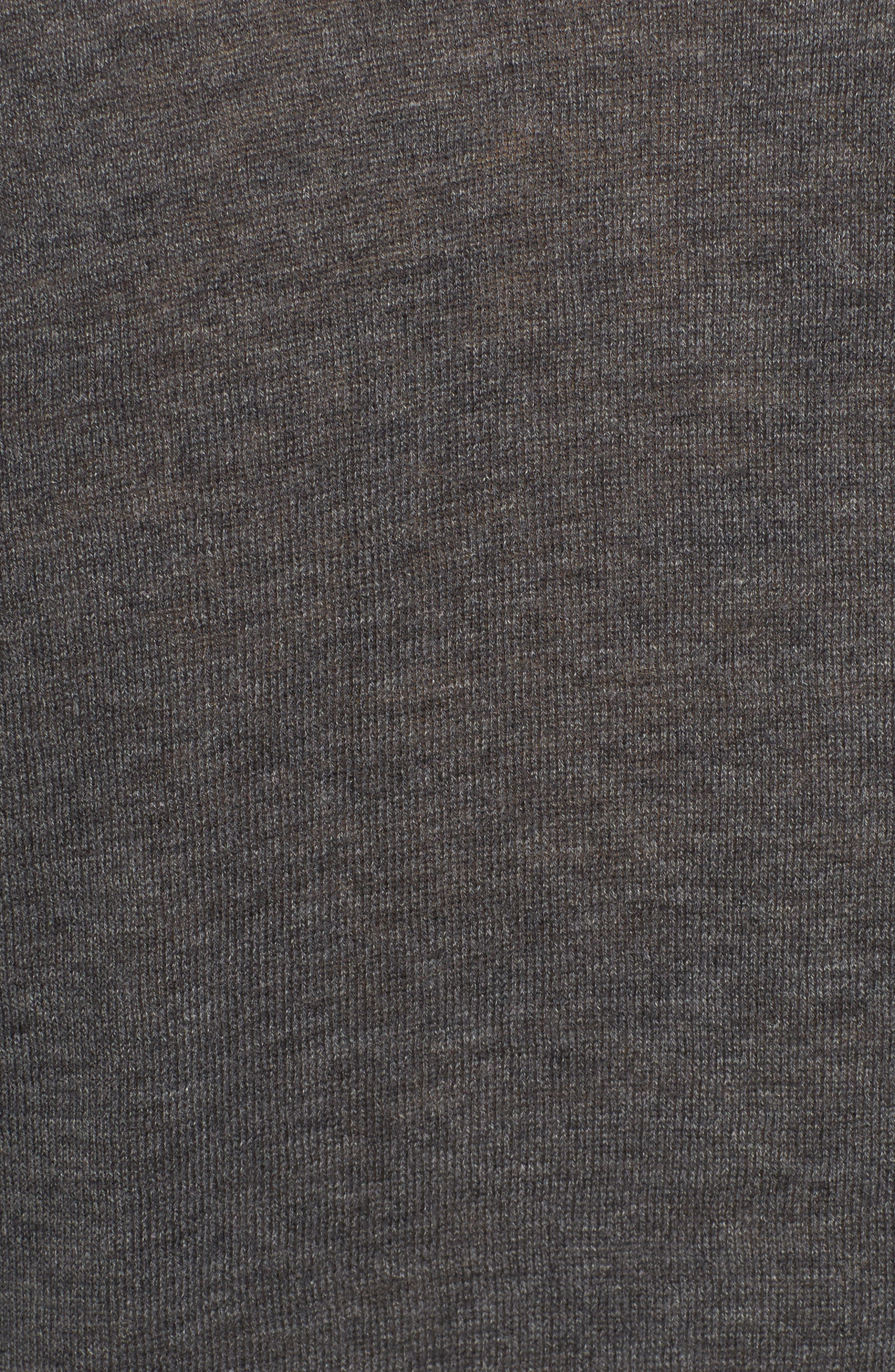 Deep V-Neck Sweater,                             Alternate thumbnail 5, color,                             DARK HEATHER GREY