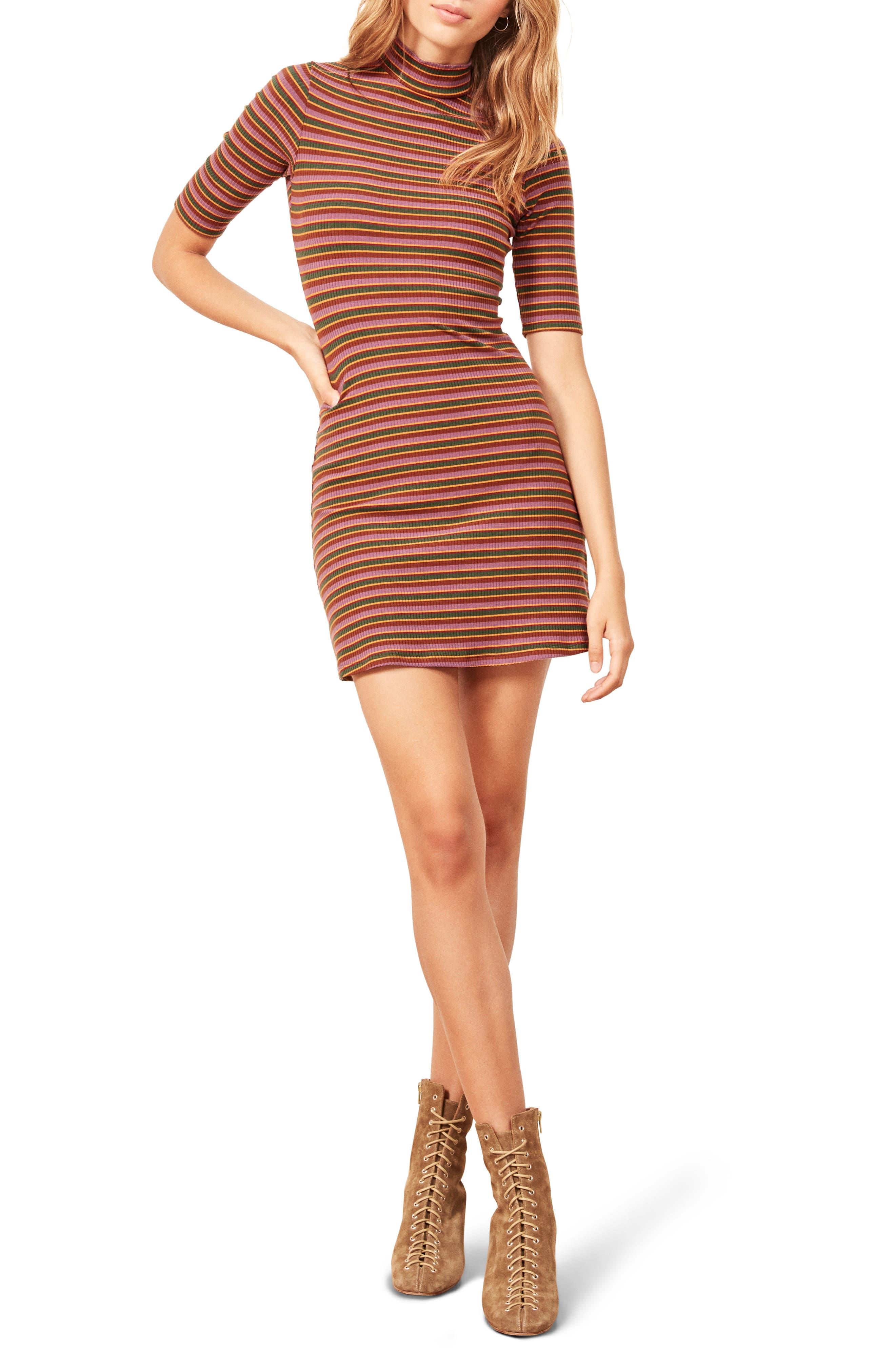 Mod Sweater Dress,                         Main,                         color, GABRIEL STRIPE