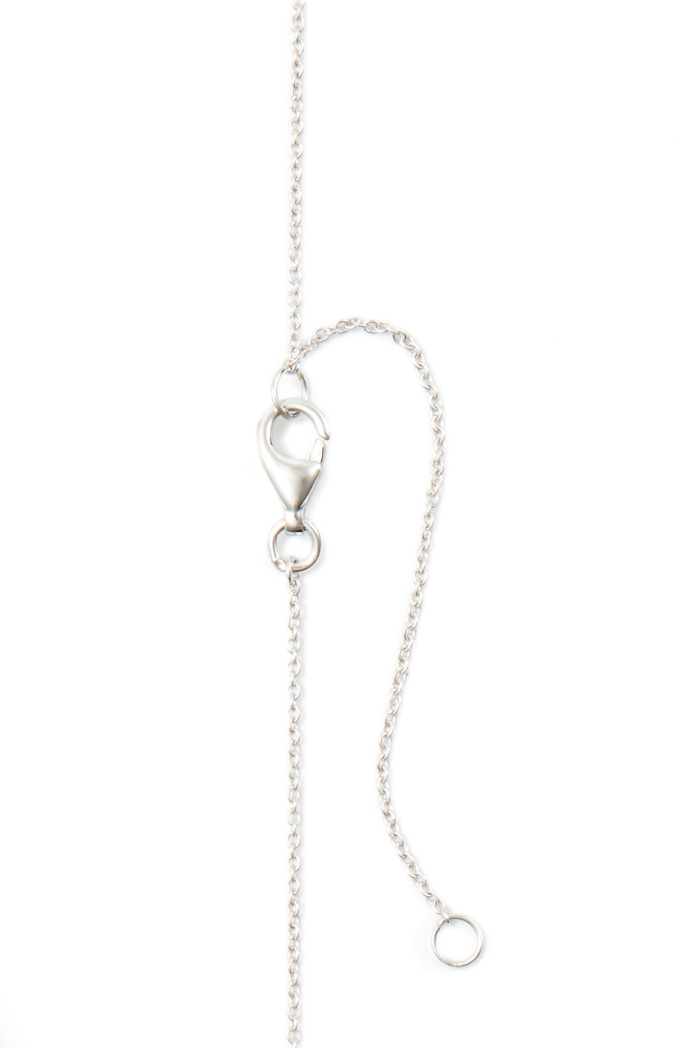 Mika Mini Rectangle Pavé Diamond Pendant Necklace,                             Alternate thumbnail 3, color,                             WHITE GOLD