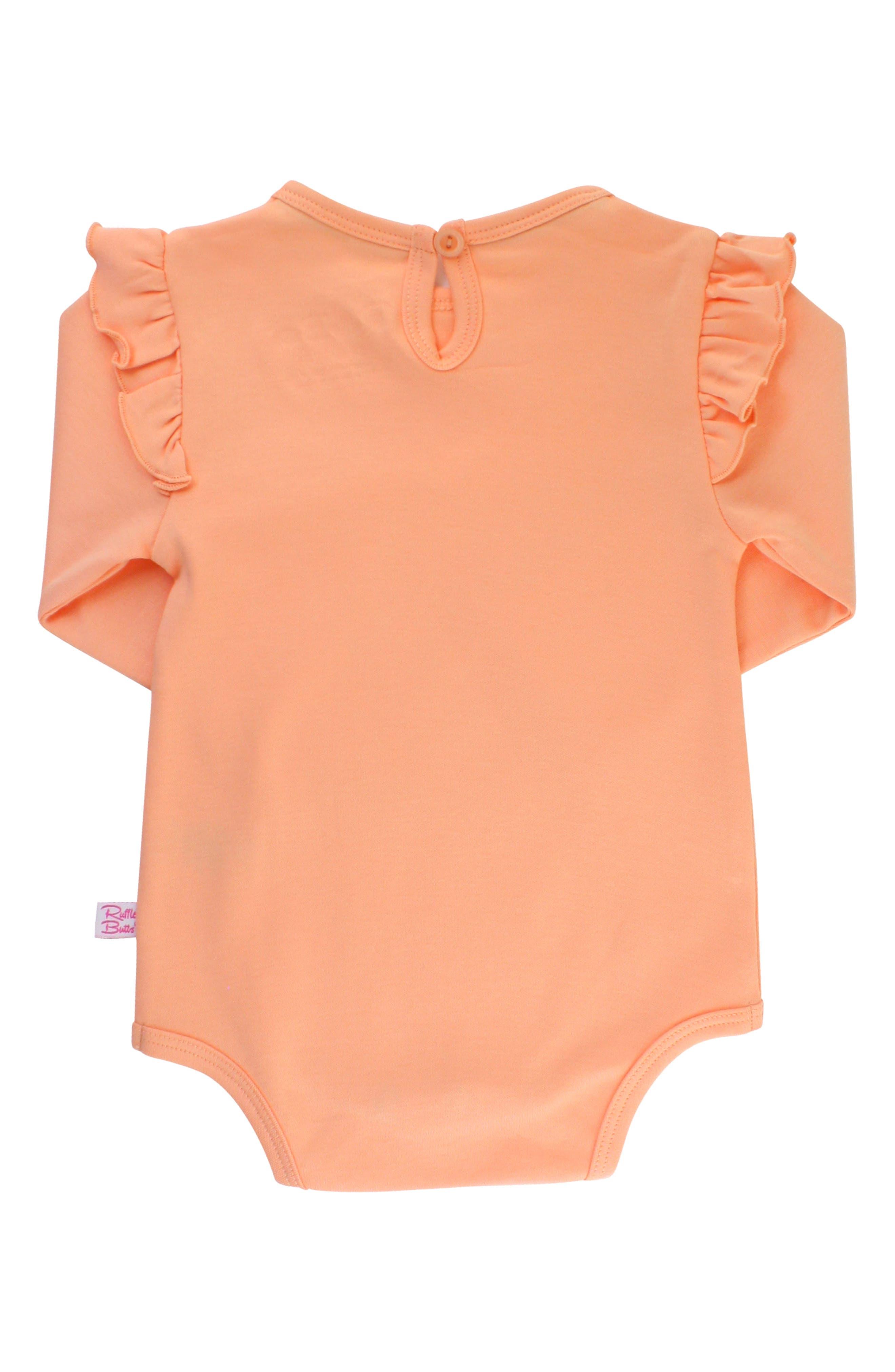 Apricot Bodysuit & Skirted Bloomers Set,                             Alternate thumbnail 5, color,                             DENIM