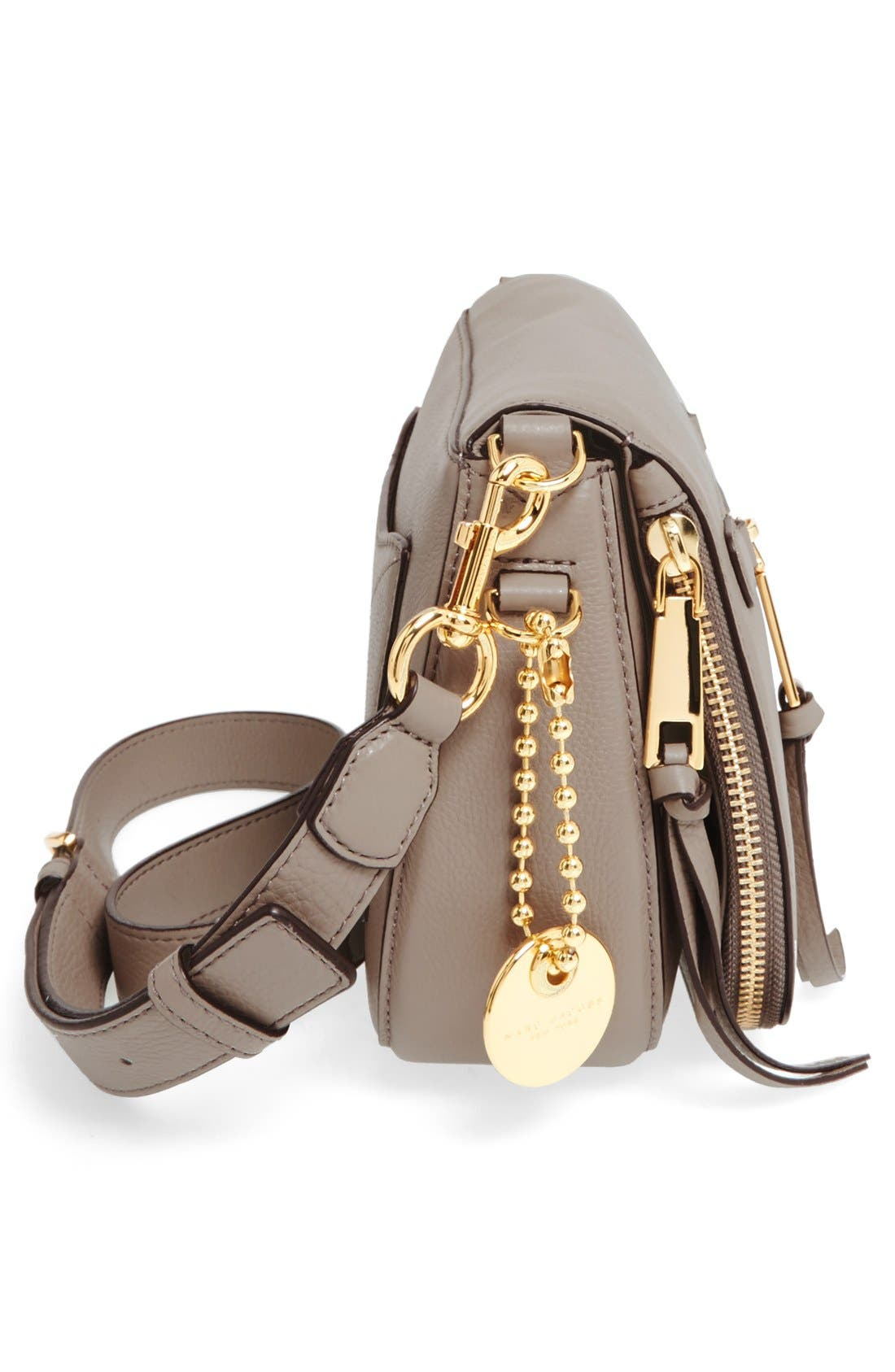 Small Recruit Nomad Pebbled Leather Crossbody Bag,                             Alternate thumbnail 83, color,