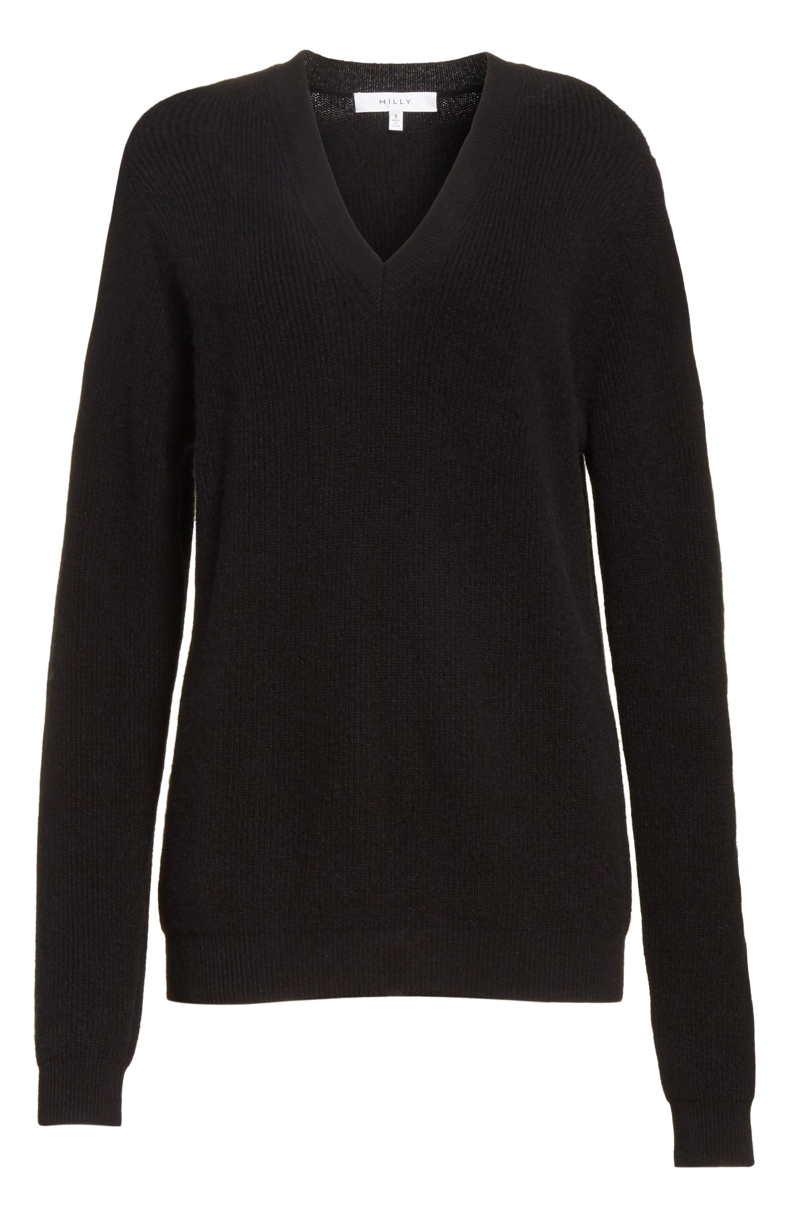 Cold Shoulder Cashmere Pullover,                             Alternate thumbnail 11, color,
