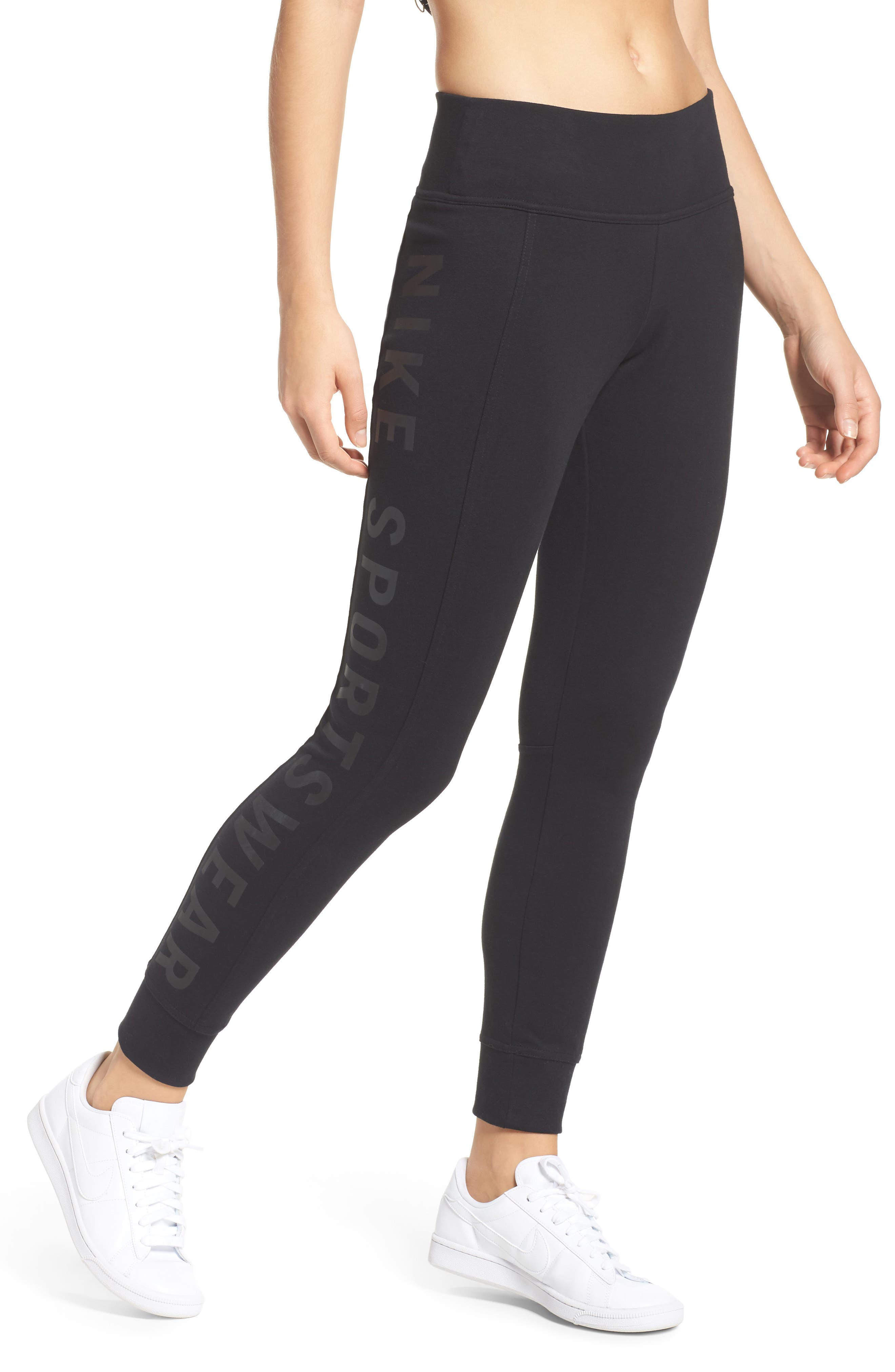 Essential Logo Leggings,                             Main thumbnail 3, color,