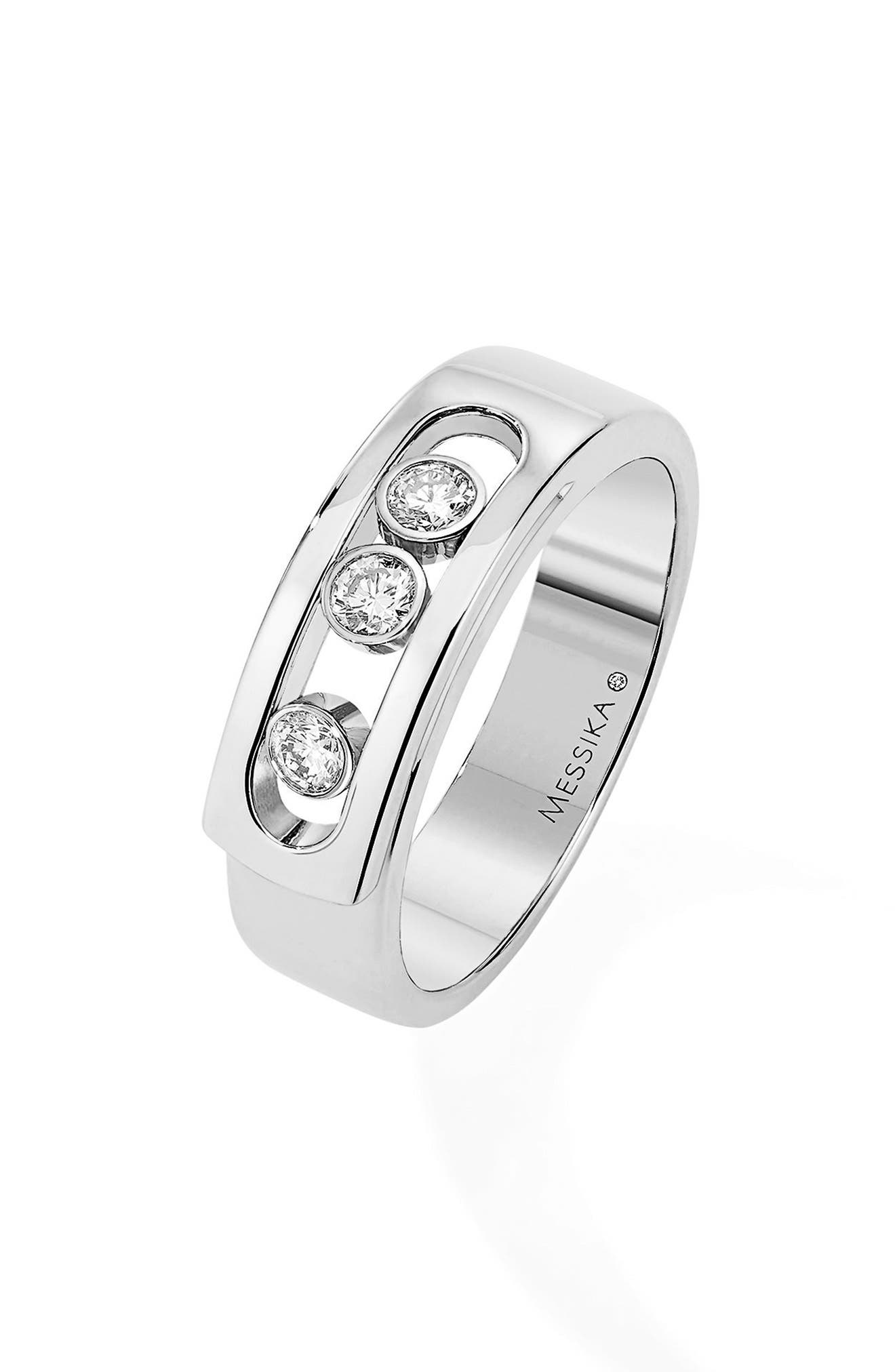 Move Noa Diamond Band Ring,                         Main,                         color, WHITE GOLD