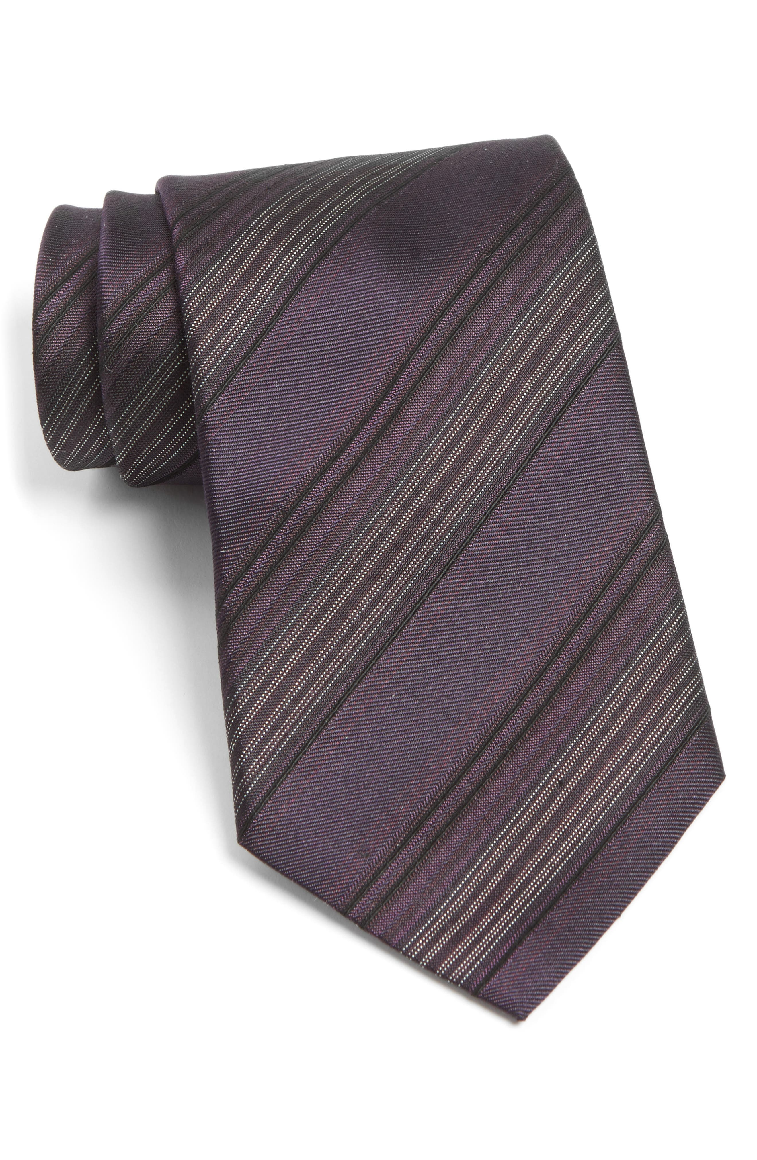 Stripe Silk Tie,                             Main thumbnail 3, color,