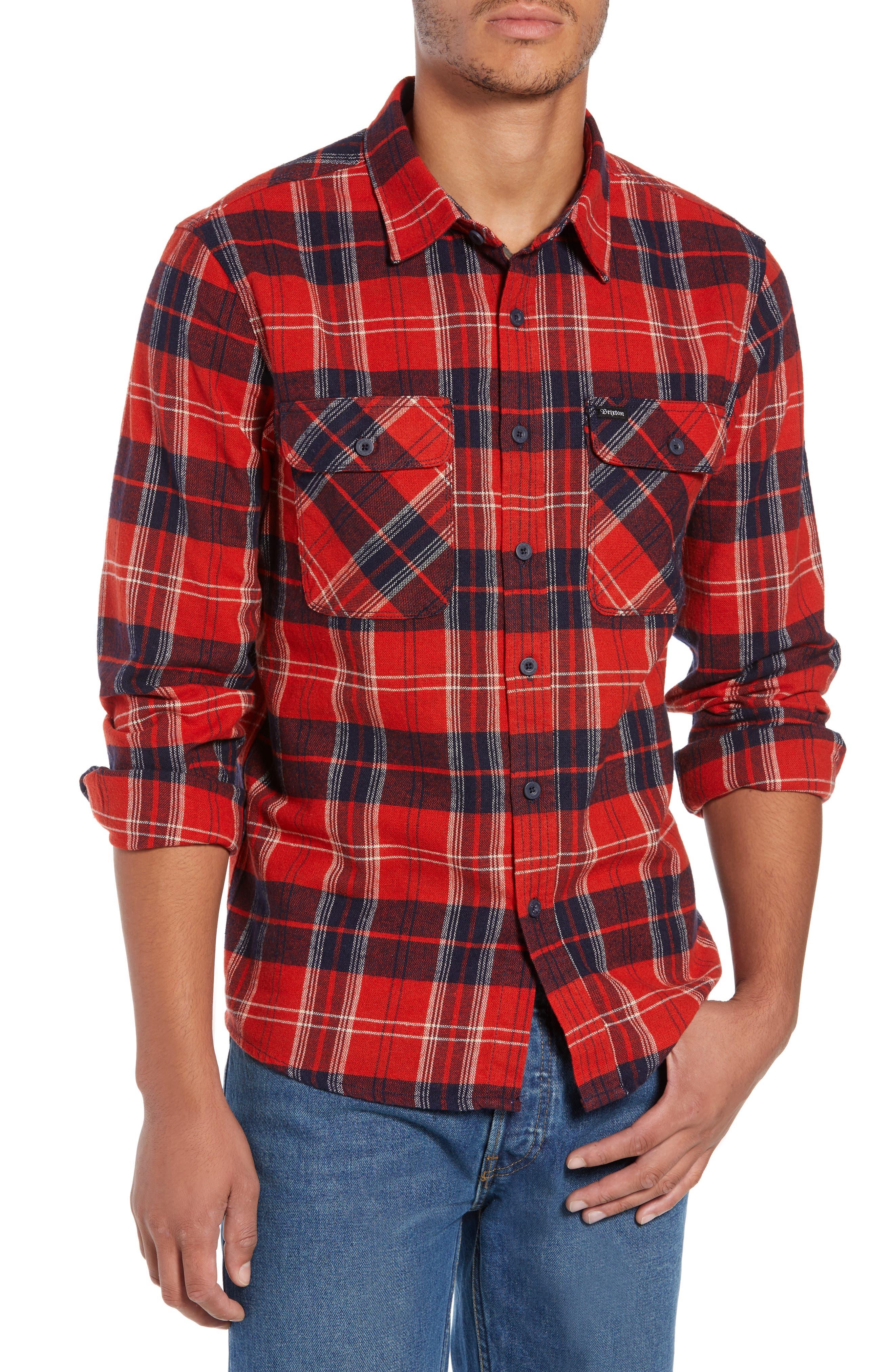 Bowery Flannel Shirt,                             Main thumbnail 10, color,