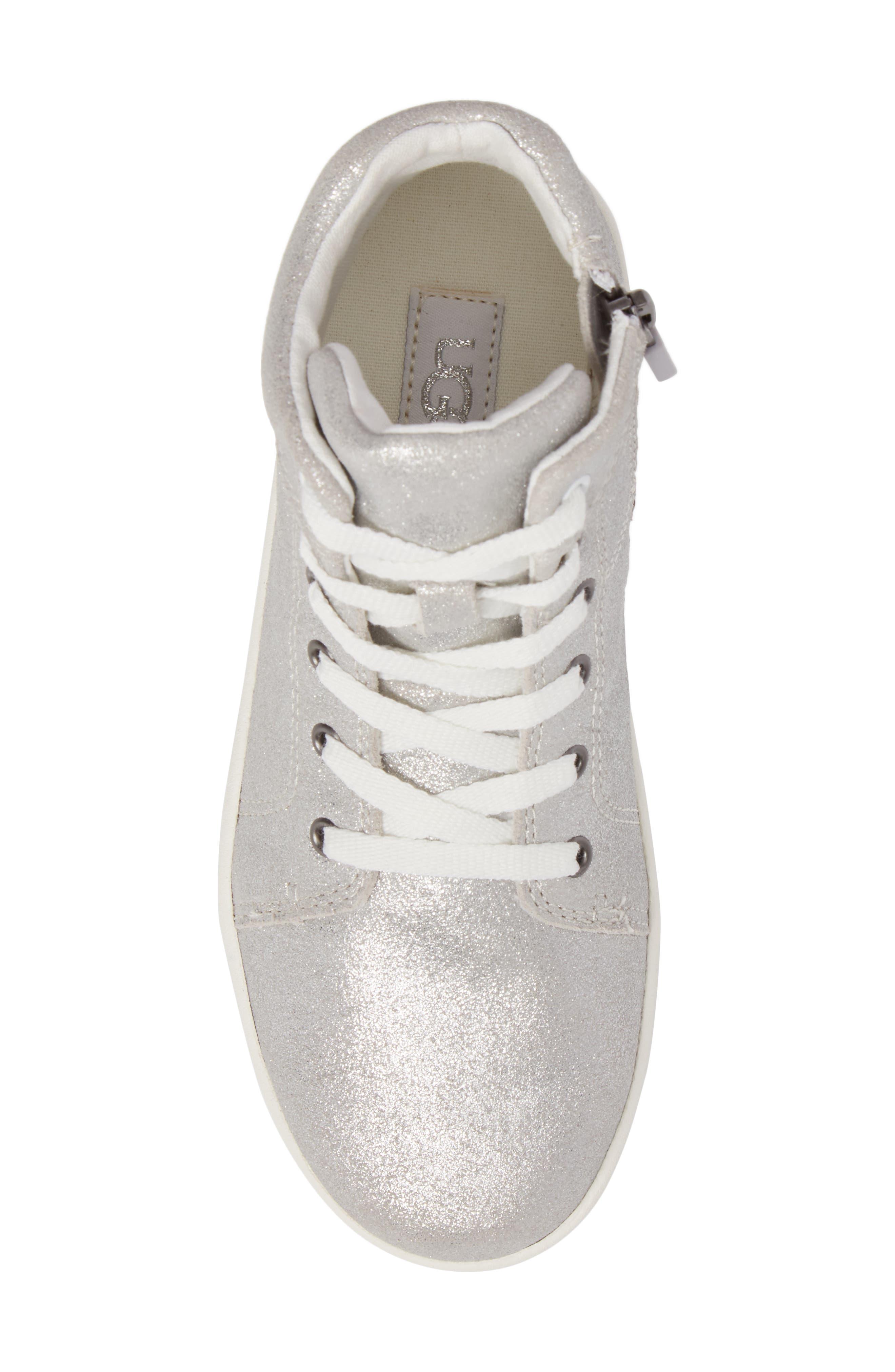 Schyler Metallic High Top Sneaker,                             Alternate thumbnail 5, color,                             040