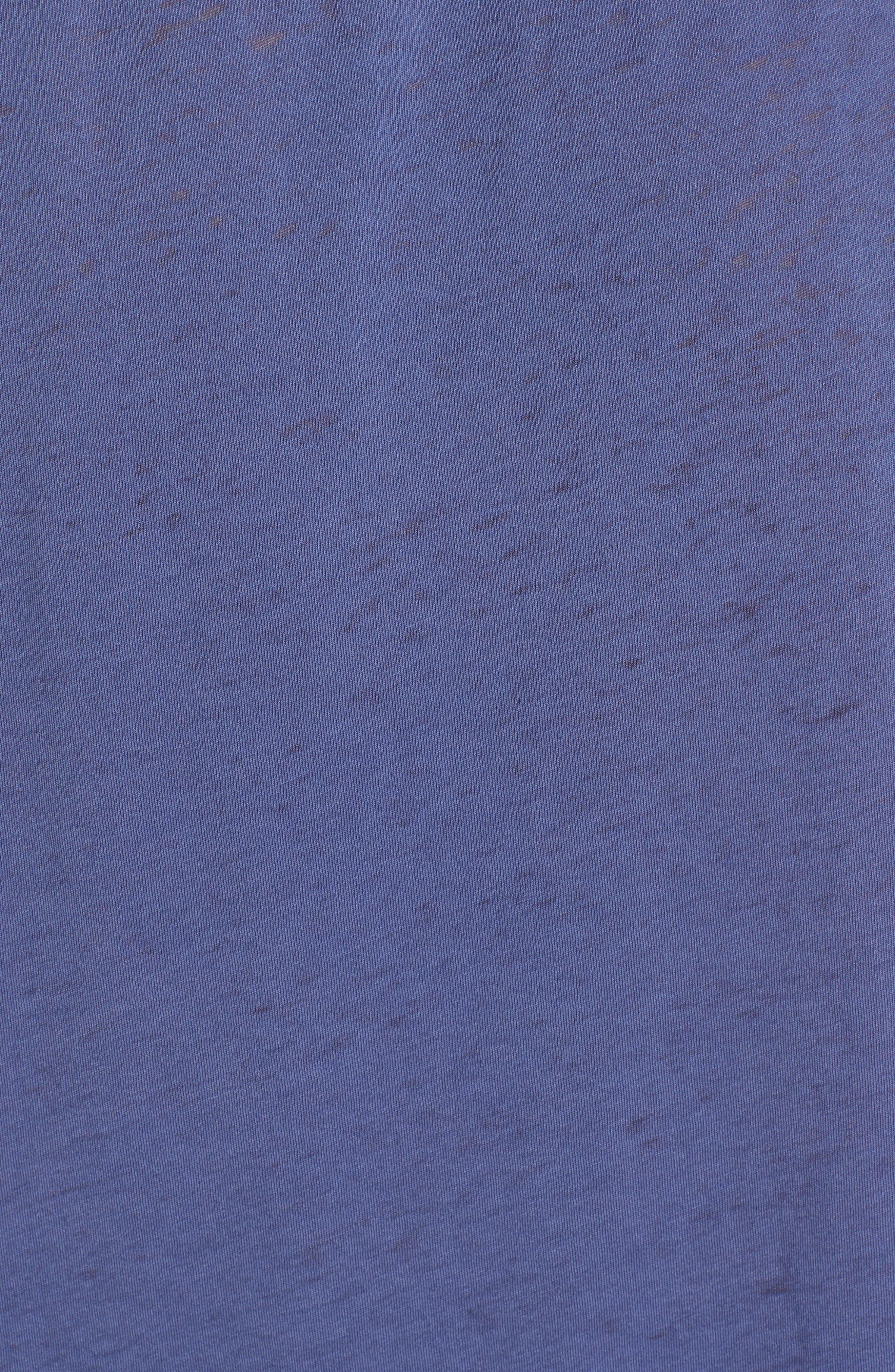 Burnout Boyfriend Tee,                             Alternate thumbnail 6, color,                             BLUE INDIGO