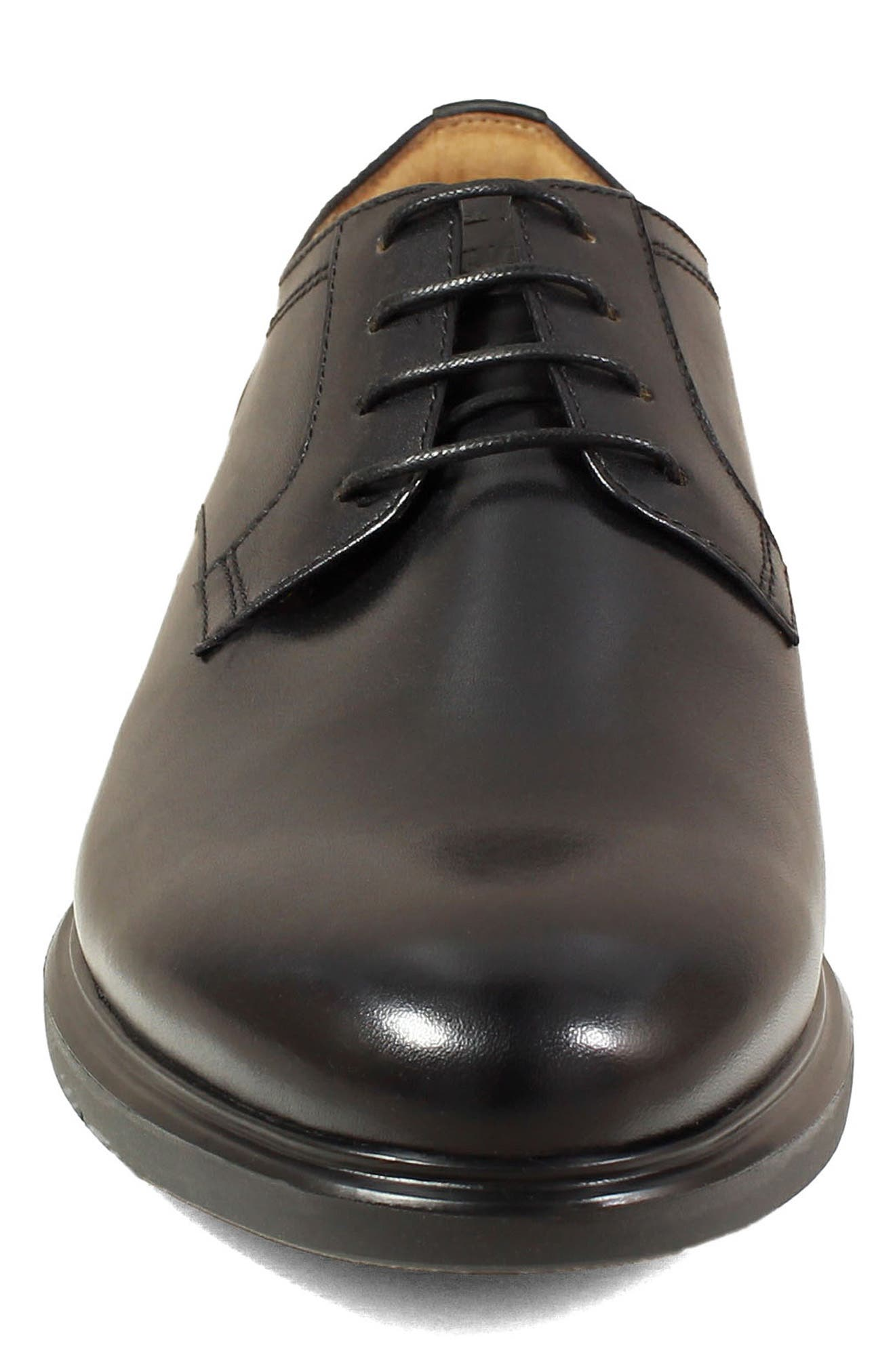 Fuel Plain Toe Derby,                             Alternate thumbnail 4, color,                             BLACK LEATHER