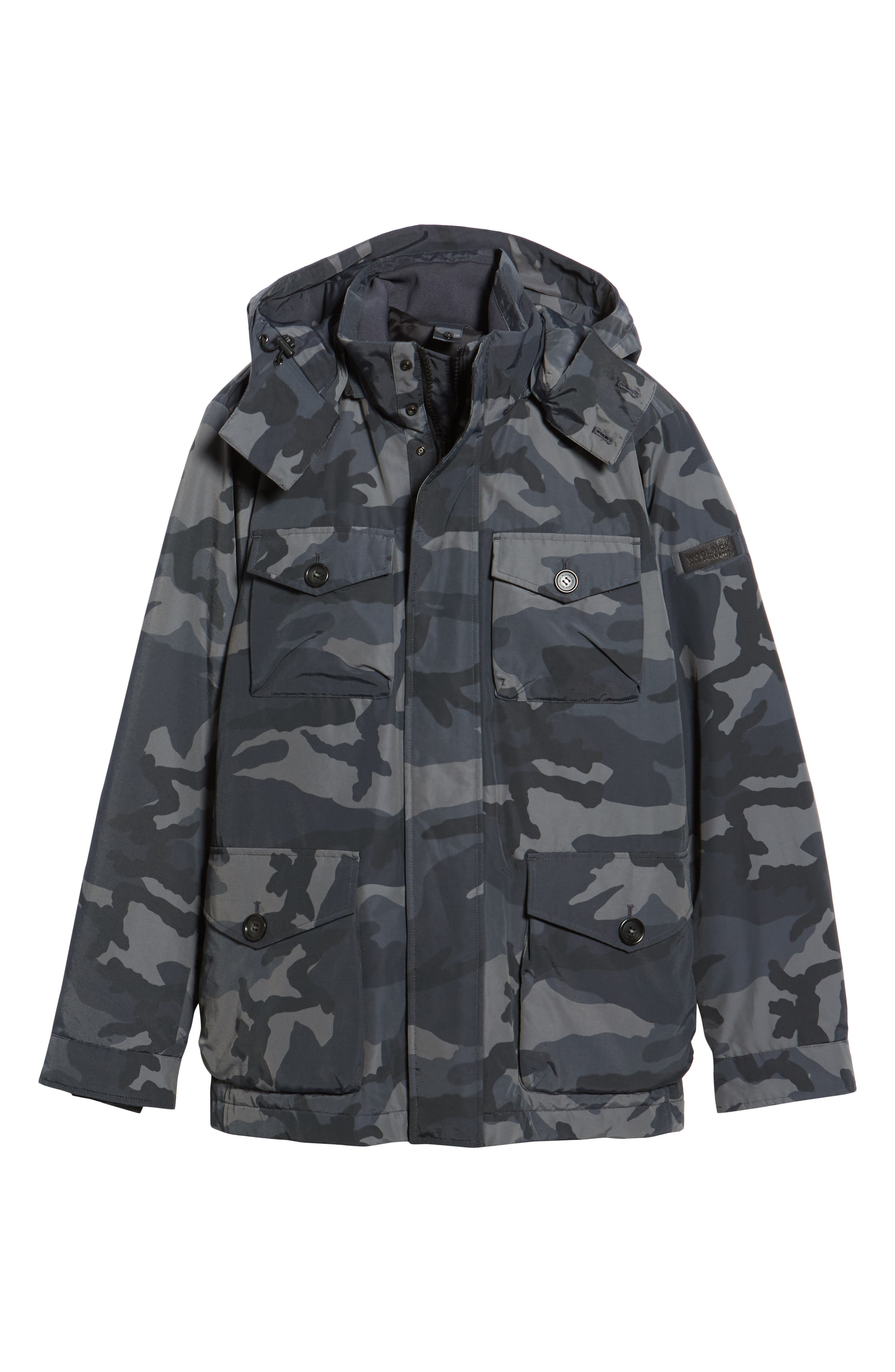 Camou Field Jacket,                             Alternate thumbnail 6, color,                             GREY CAMOU
