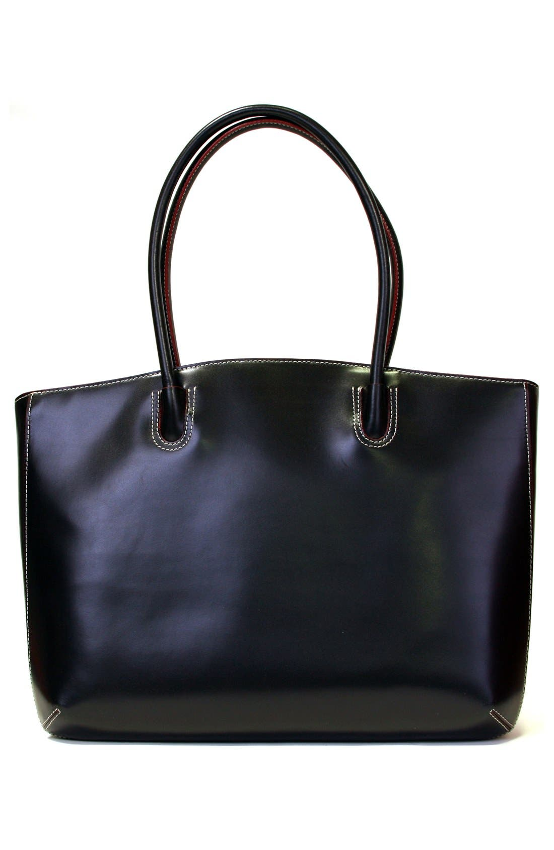 Lodis 'Audrey - Milano' Leather Computer Tote,                             Alternate thumbnail 5, color,                             001