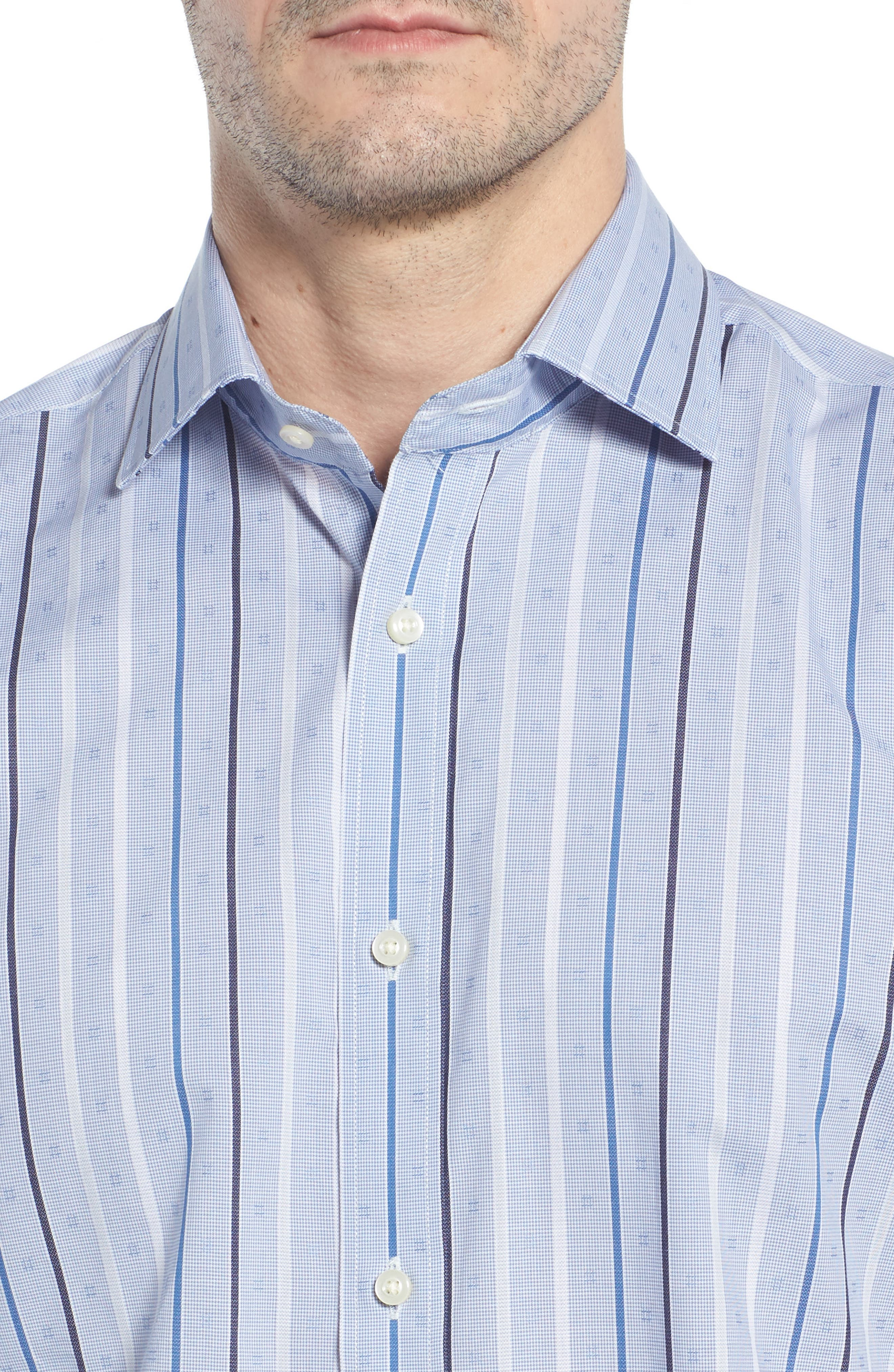 THOMAS DEAN,                             Regular Fit Check Sport Shirt,                             Alternate thumbnail 4, color,                             400