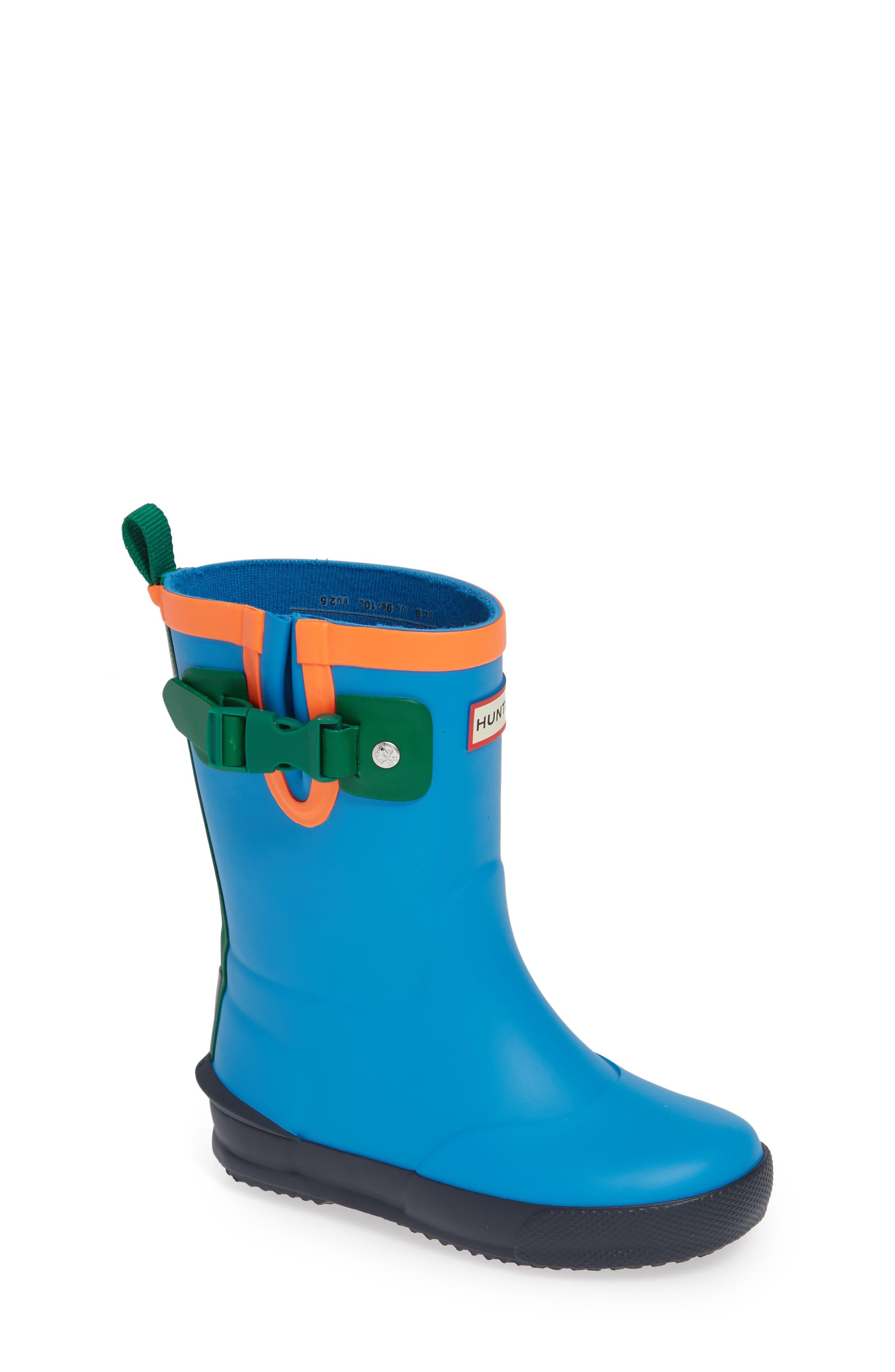'Davison' Rain Boot,                         Main,                         color, TWILIGHT/ HYPER GREEN/ NAVY