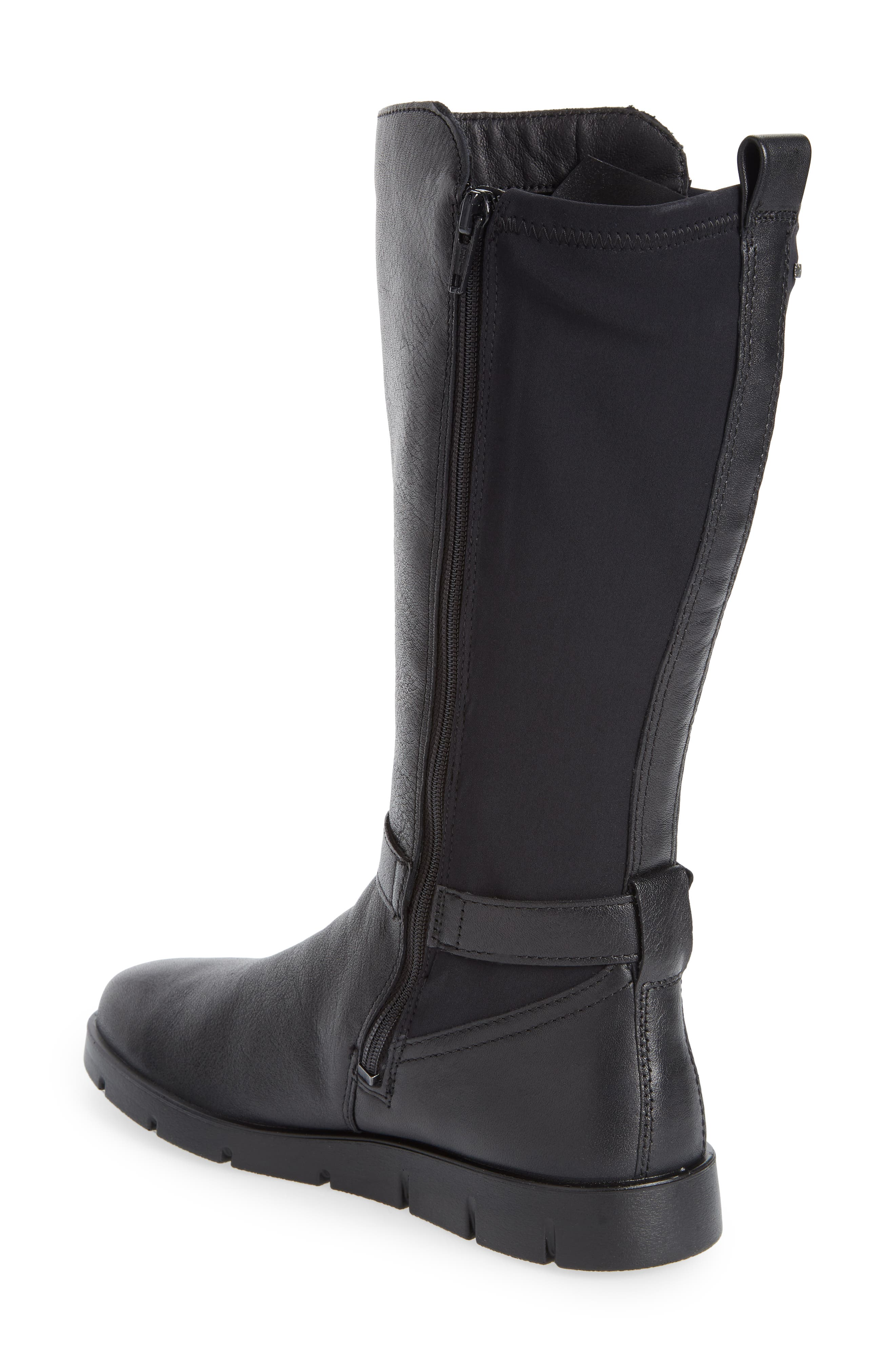 Bella Water Resistant Tall Boot,                             Alternate thumbnail 2, color,                             BLACK LEATHER