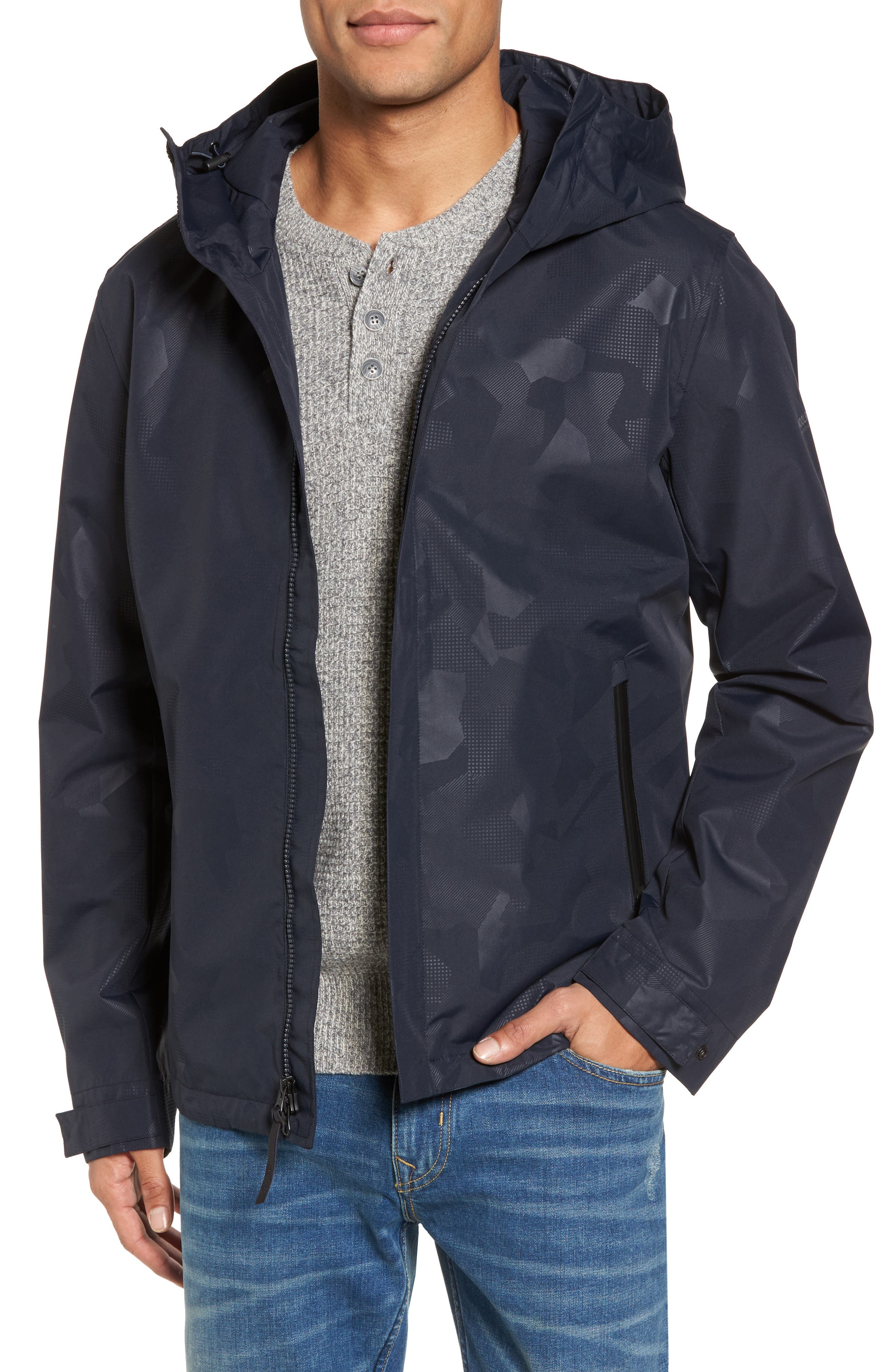 John Rich & Bros. Atlantic Camo Hooded Jacket,                             Main thumbnail 2, color,