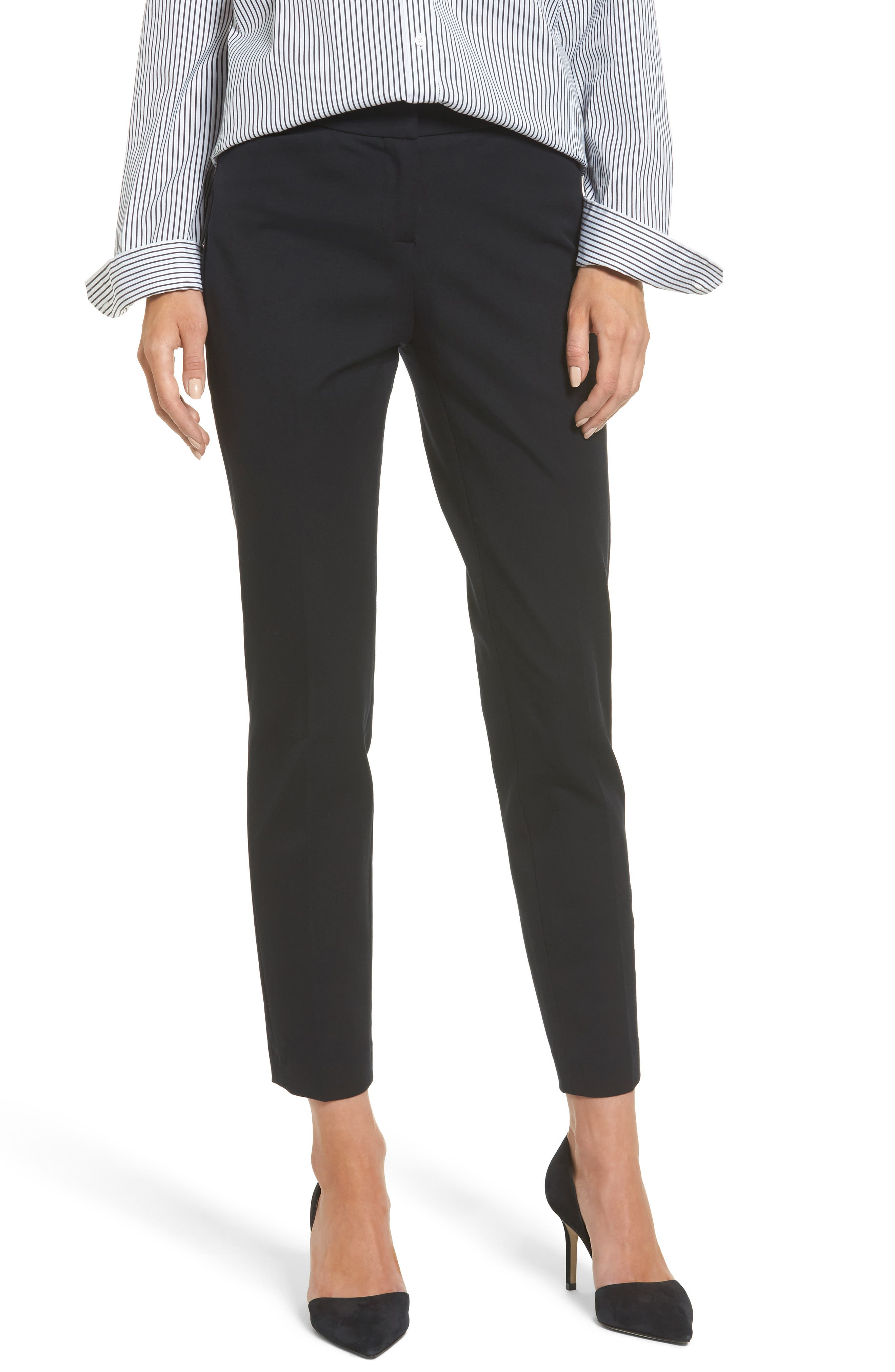 Ankle Pants,                         Main,                         color, BLACK
