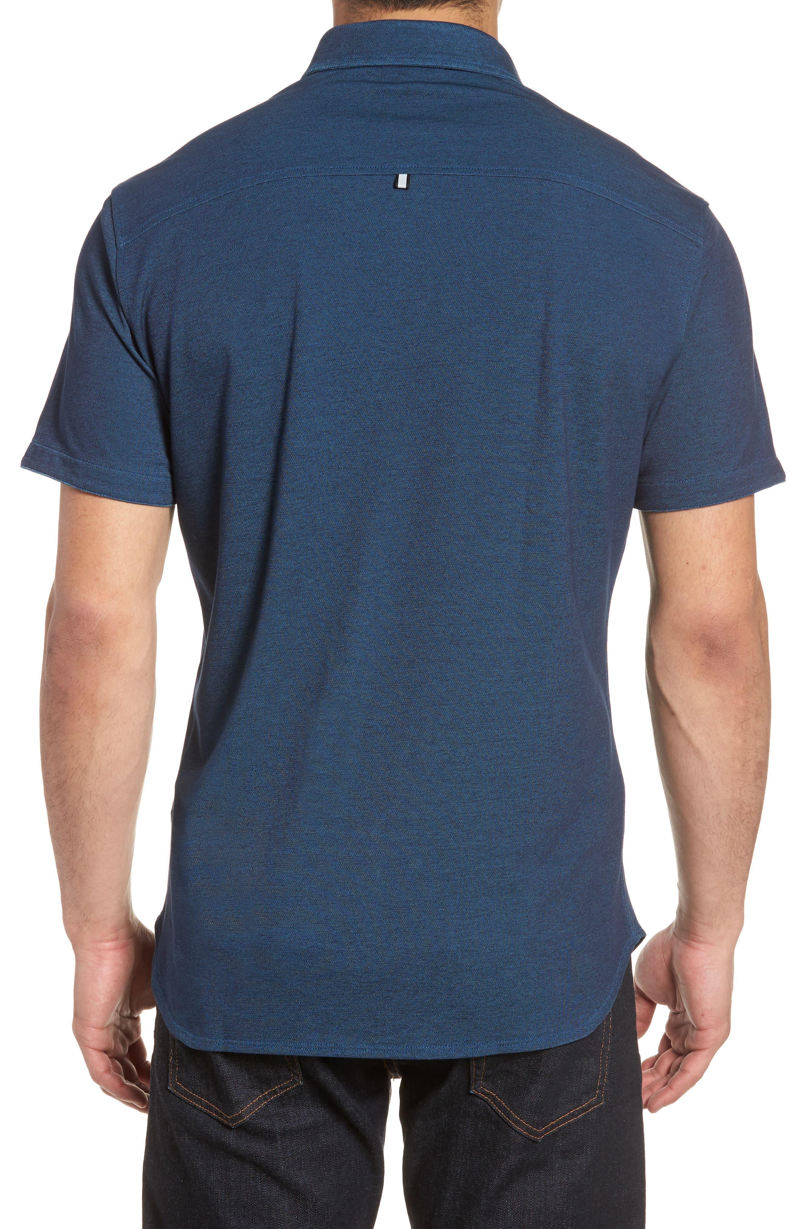 Contemporary Fit Tech Knit Sport Shirt,                             Alternate thumbnail 2, color,