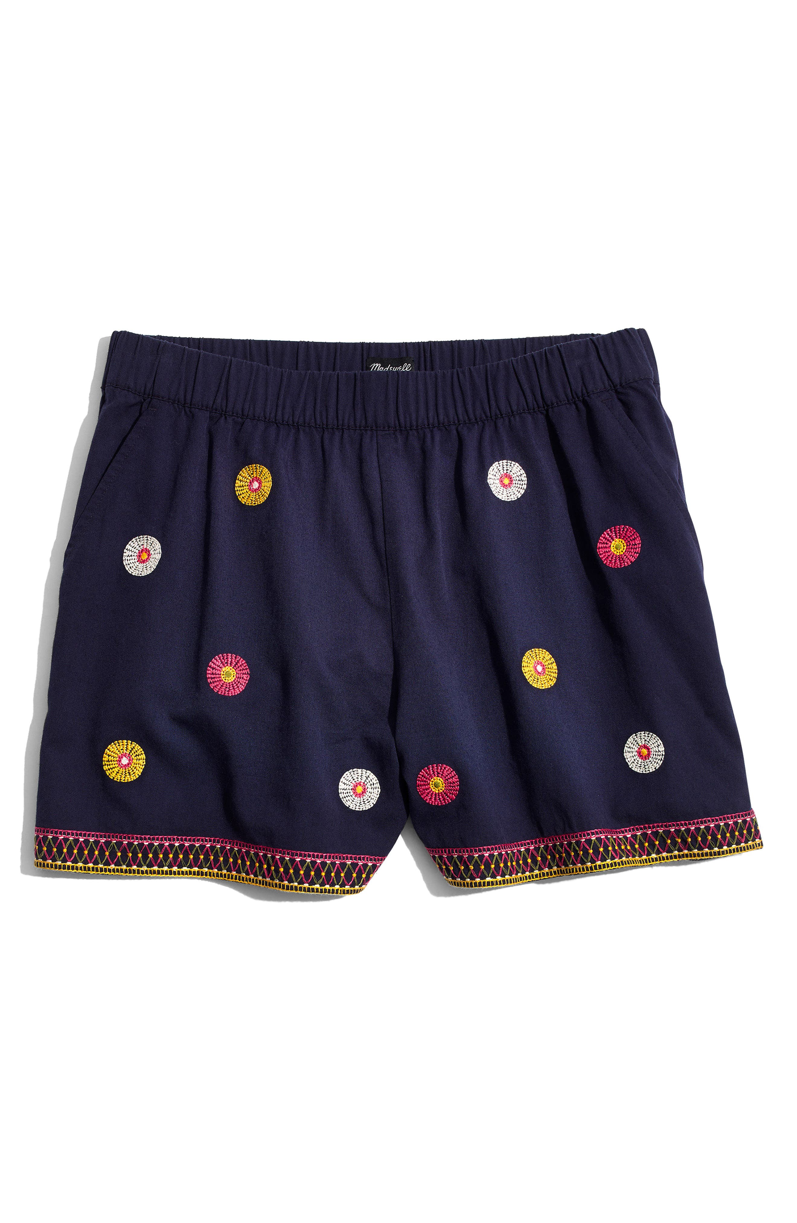 Embroidered Pull-On Shorts,                             Alternate thumbnail 4, color,                             400