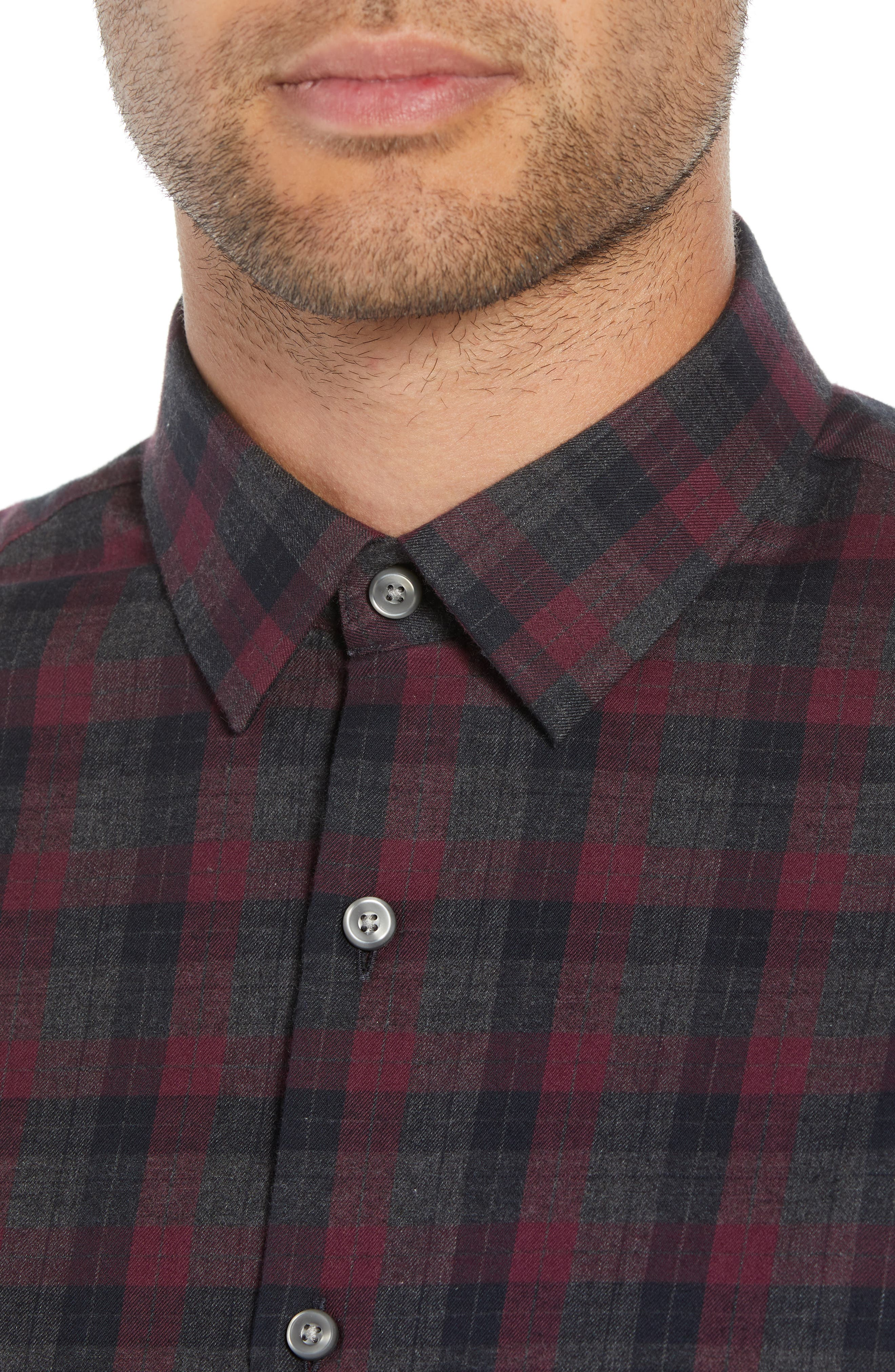 CALIBRATE,                             Check Flannel Shirt,                             Alternate thumbnail 4, color,                             050