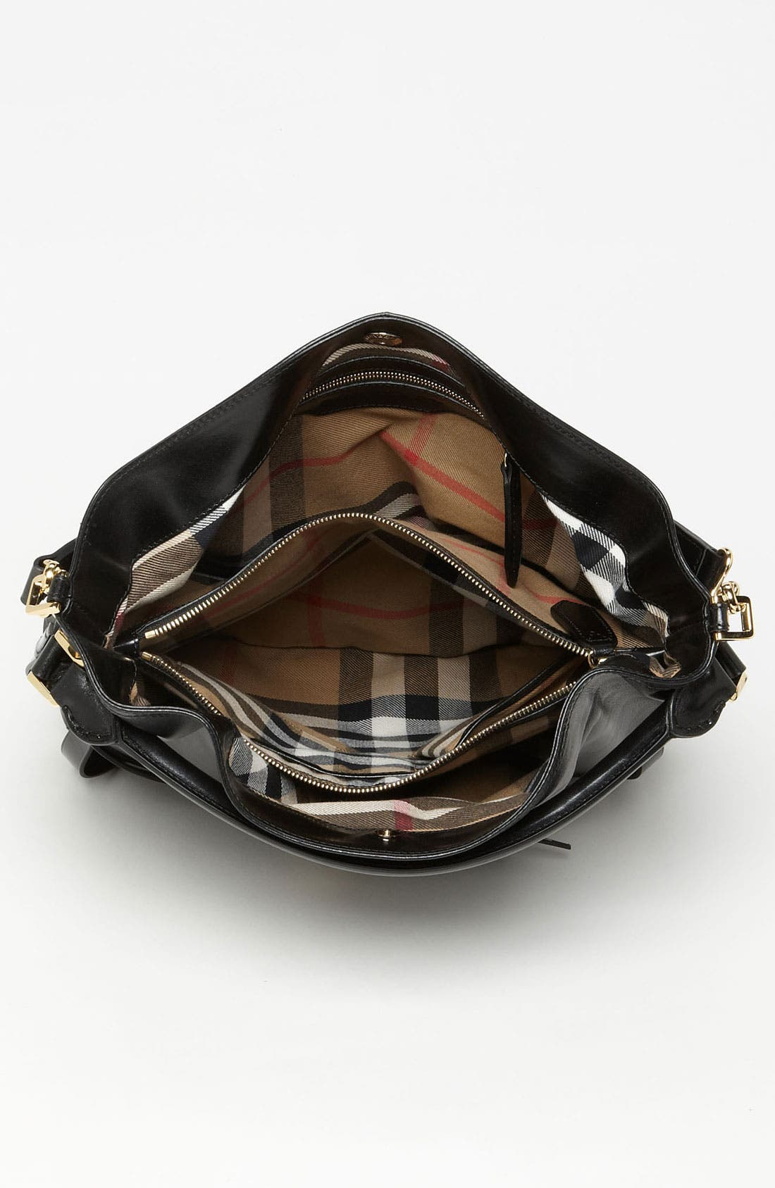 'Bridle' Leather Hobo,                             Alternate thumbnail 3, color,                             002