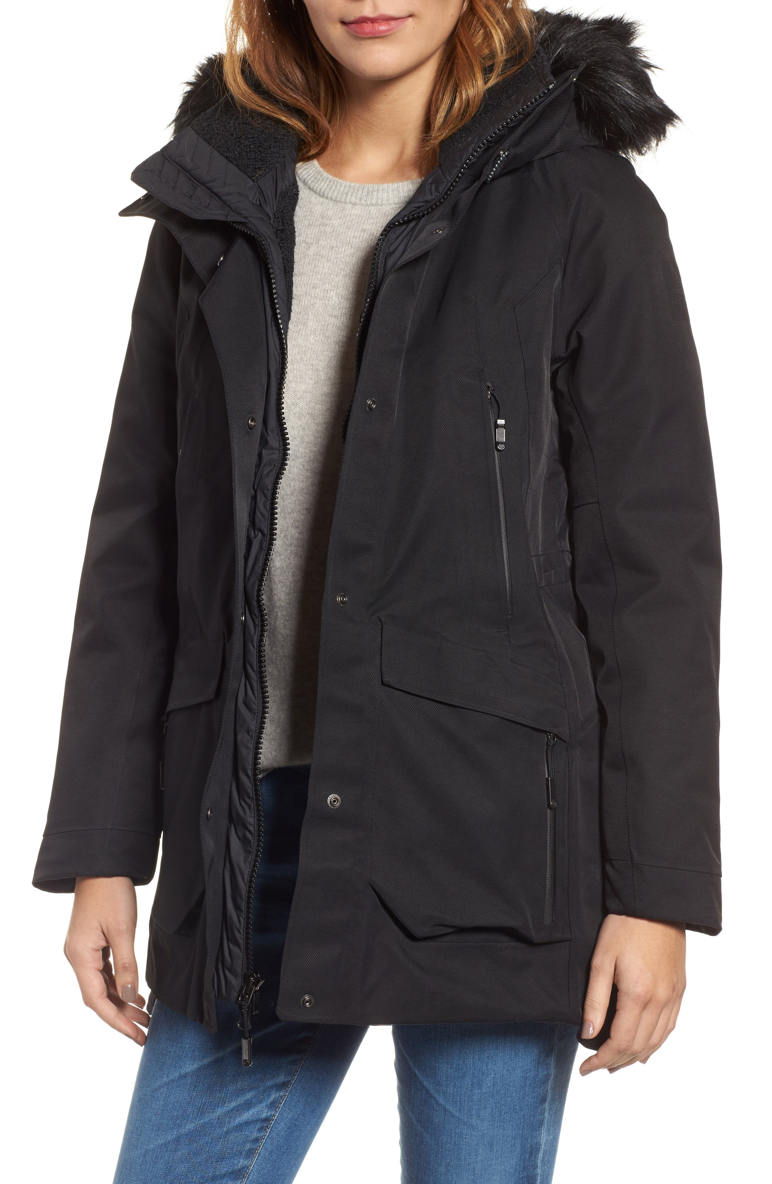Cryos Gore-Tex<sup>®</sup> Tri-Climate PrimaLoft Gold Insulated Waterproof & Windproof Jacket,                             Main thumbnail 1, color,                             001