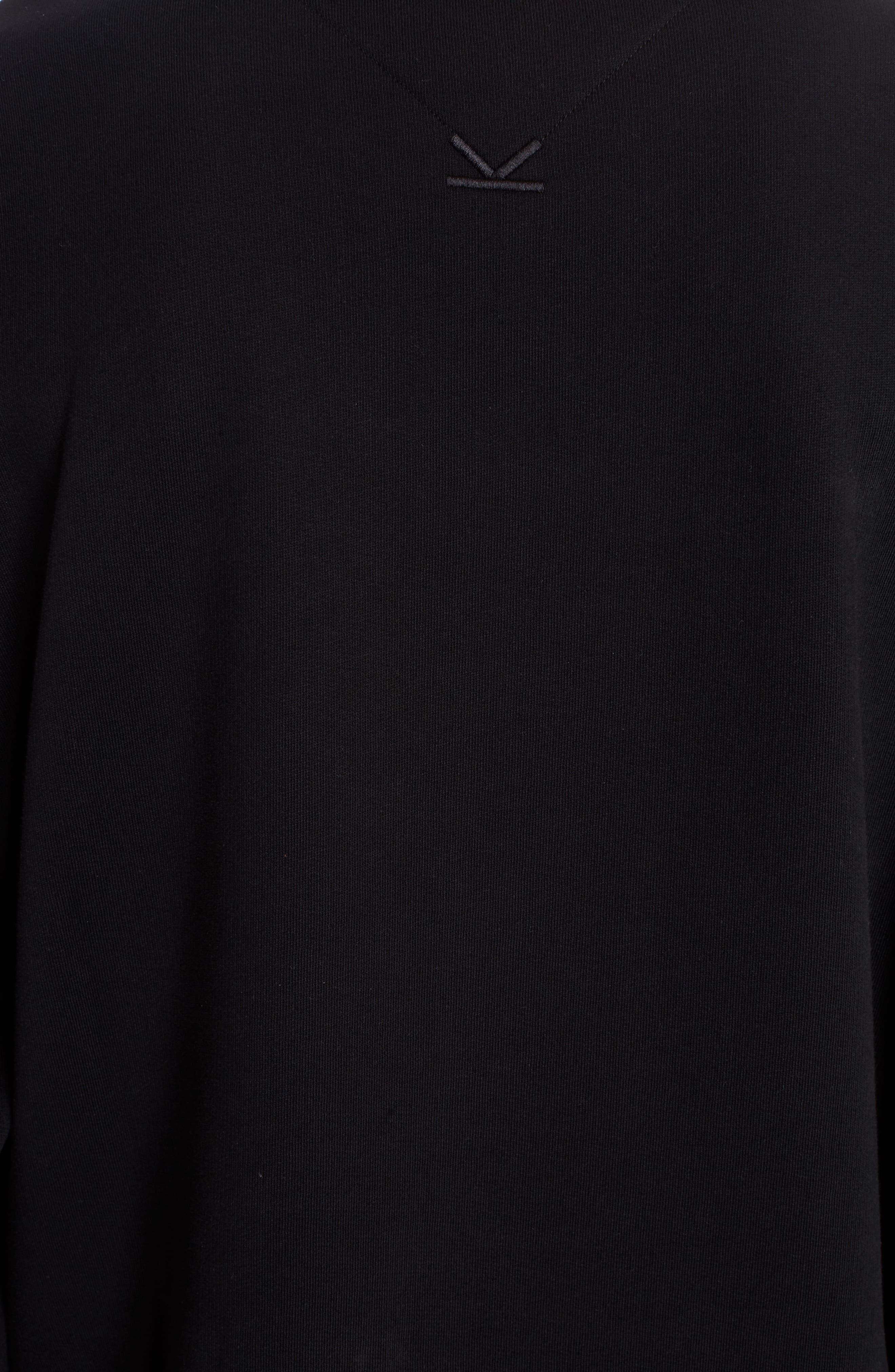 Embroidered Cursive Logo Sweatshirt,                             Alternate thumbnail 5, color,                             001
