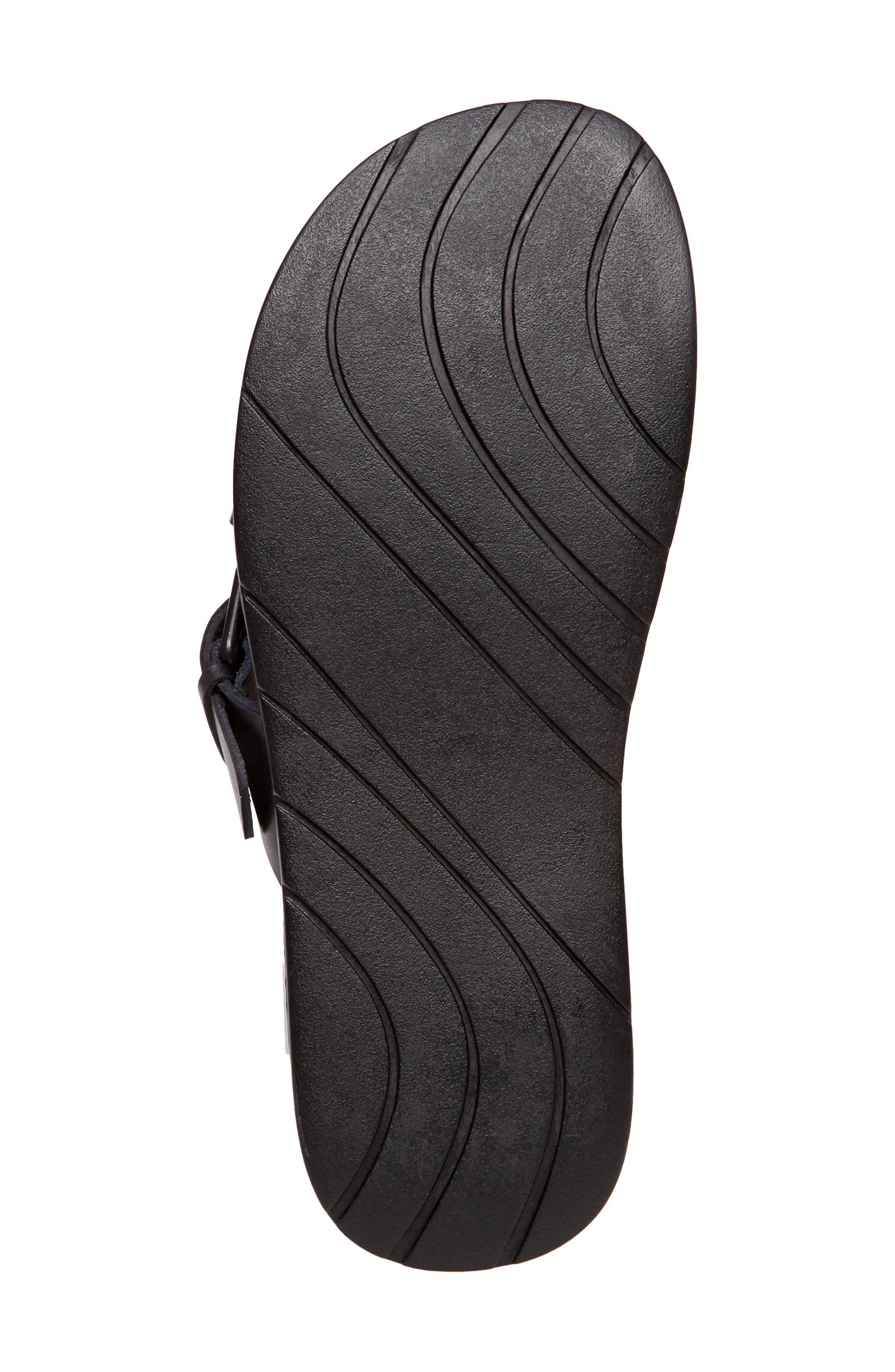 Suspense Buckled Slide Sandal,                             Alternate thumbnail 6, color,                             001