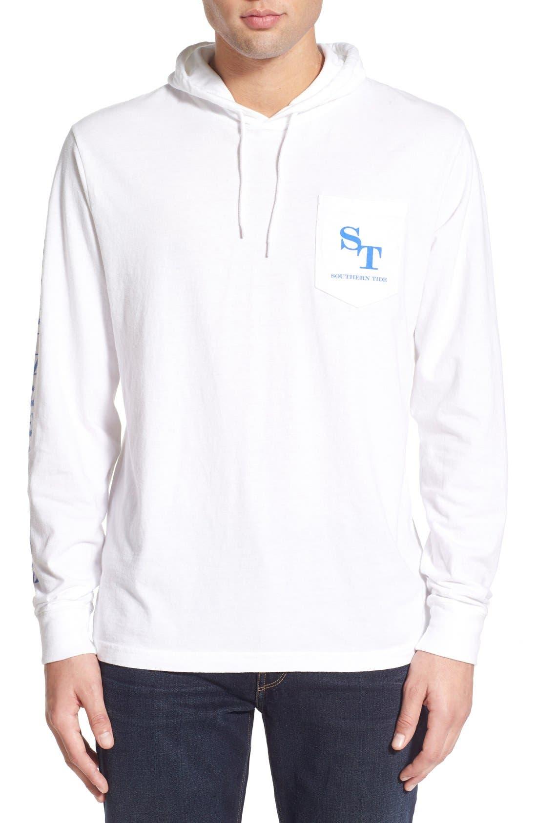 Graphic Hooded Long Sleeve T-Shirt,                             Main thumbnail 2, color,