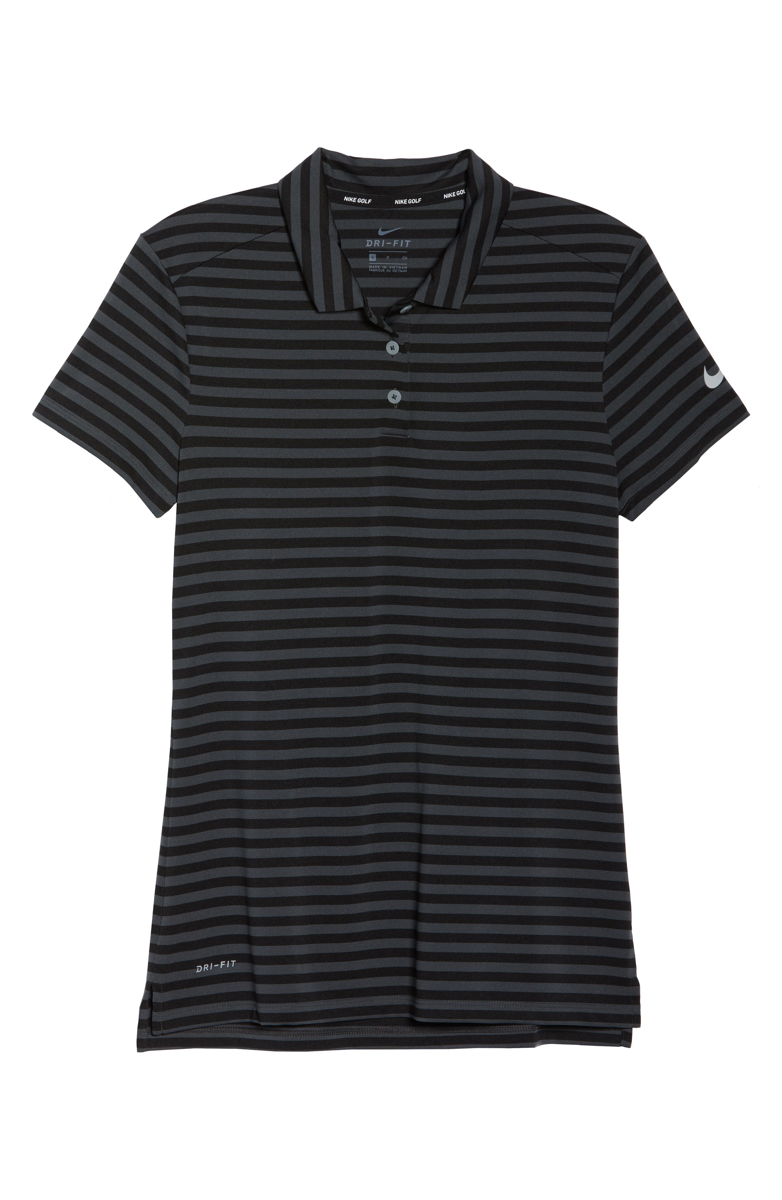 Dry Golf Polo,                             Alternate thumbnail 7, color,                             BLACK/ ANTHRACITE/ SILVER