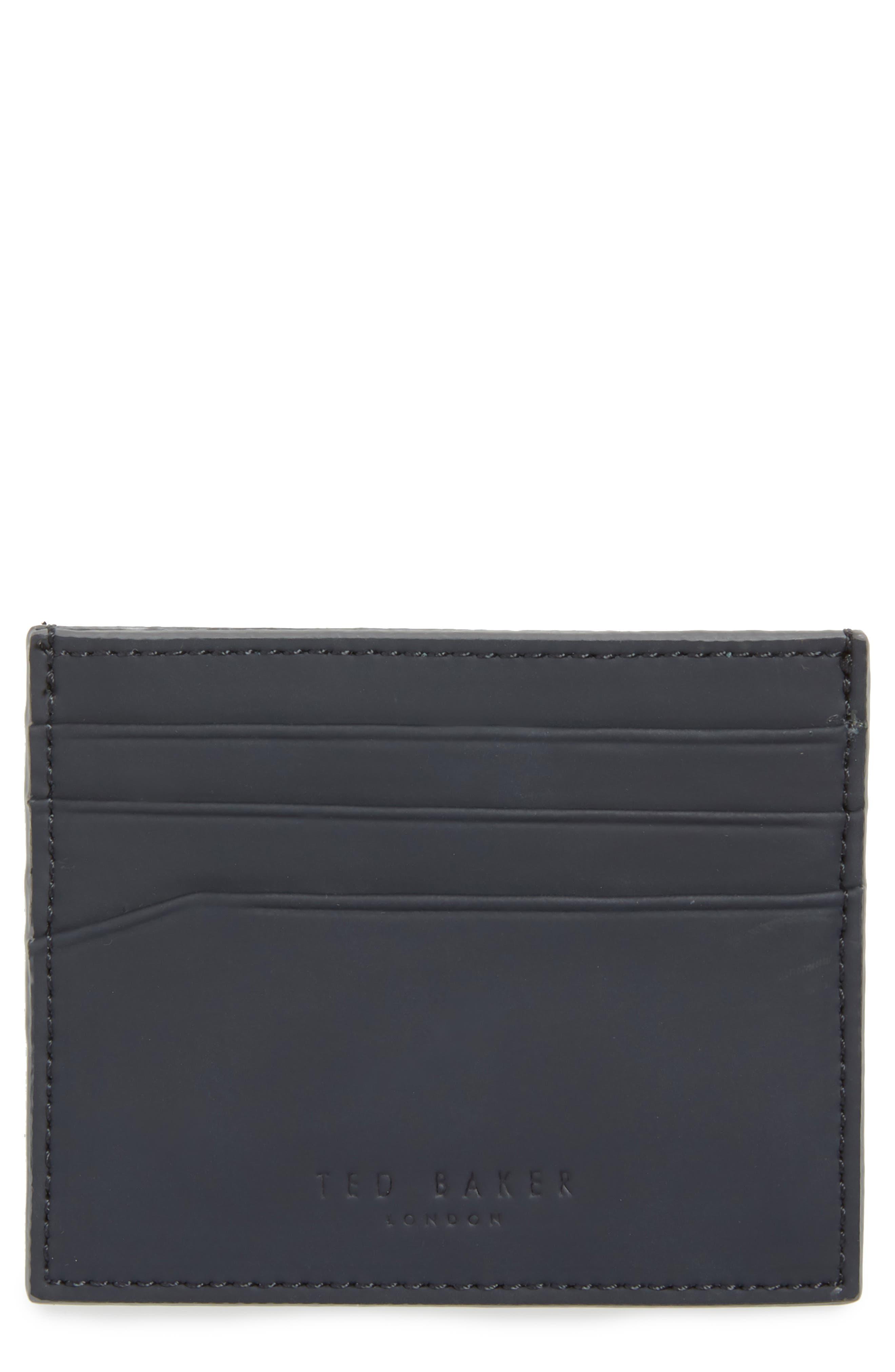 Sands Rubber Leather Card Case,                             Main thumbnail 1, color,                             410