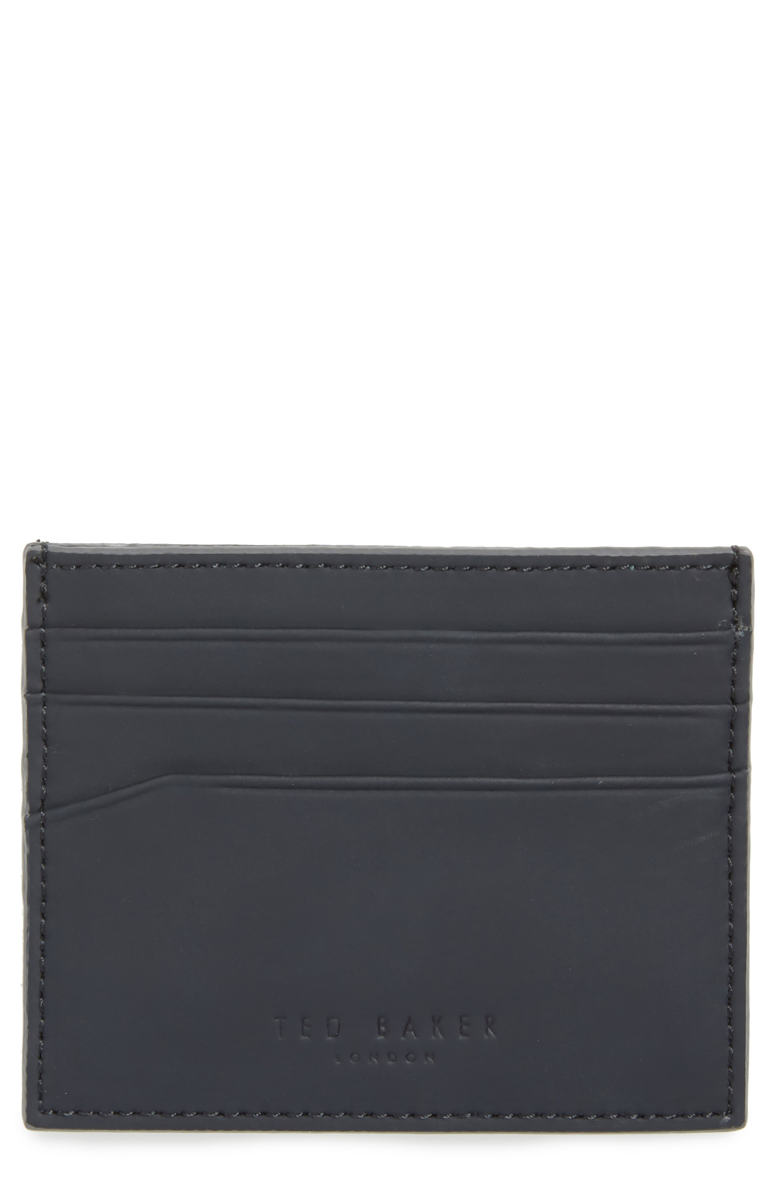 Sands Rubber Leather Card Case,                         Main,                         color, 410