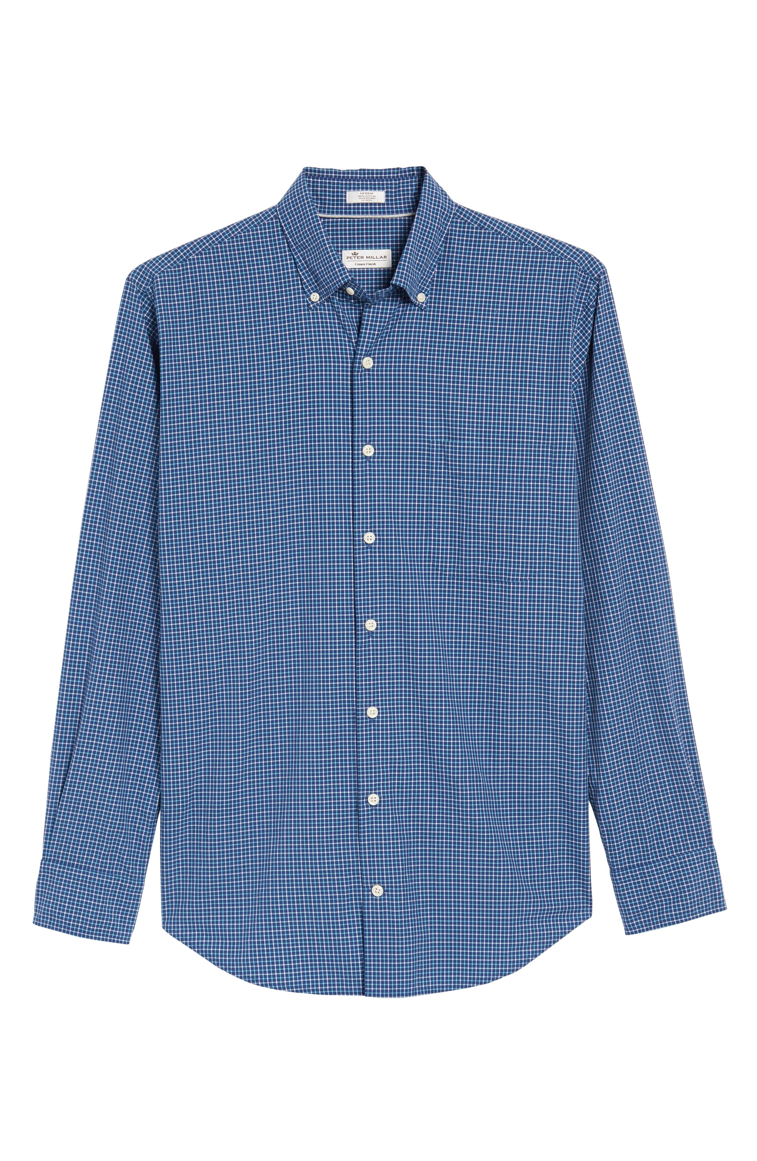 Crown Finish Marsh Regular Fit Check Sport Shirt,                             Alternate thumbnail 6, color,                             437