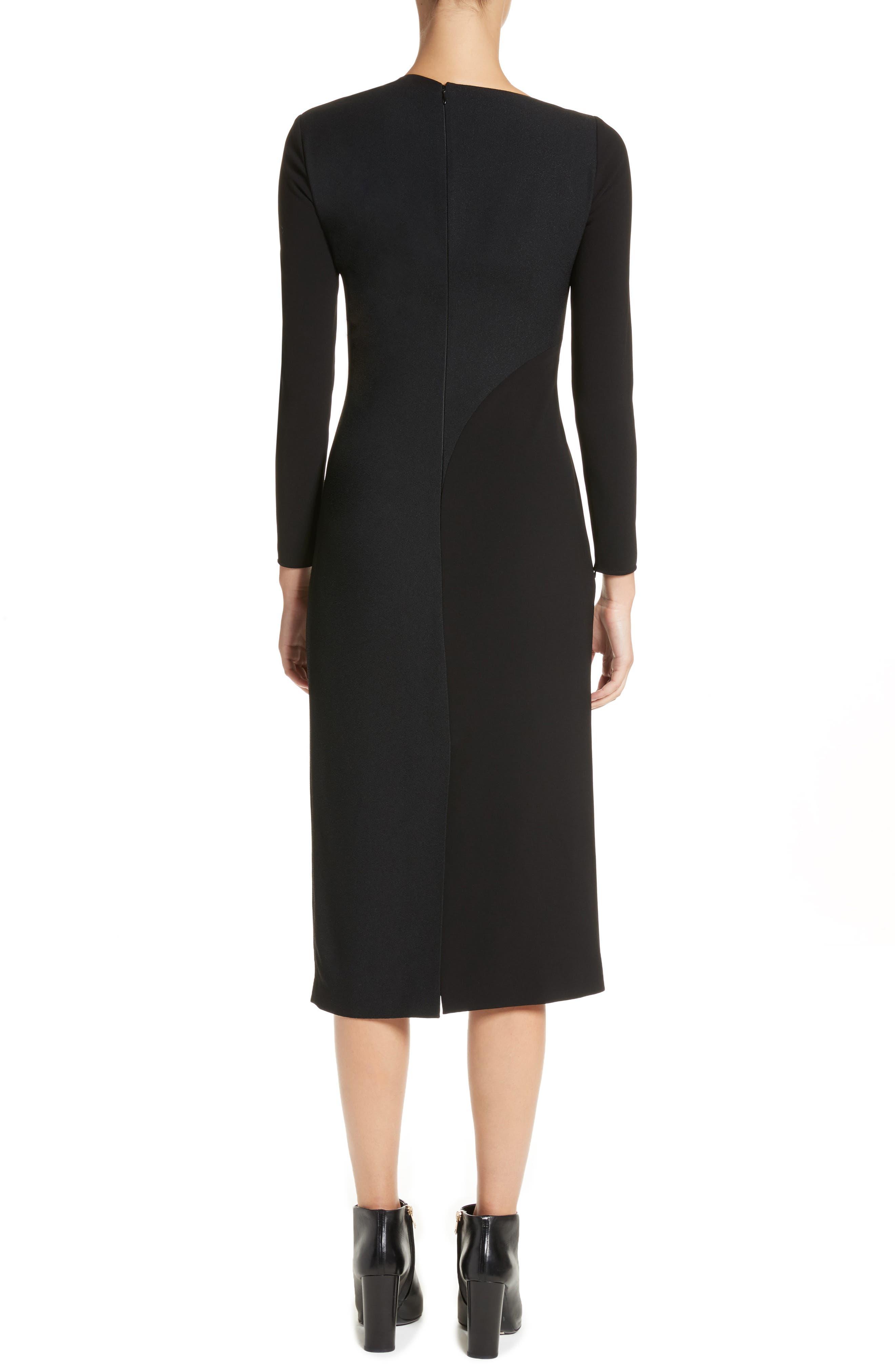 Fabiana Slash Neck Panel Dress,                             Alternate thumbnail 2, color,                             001