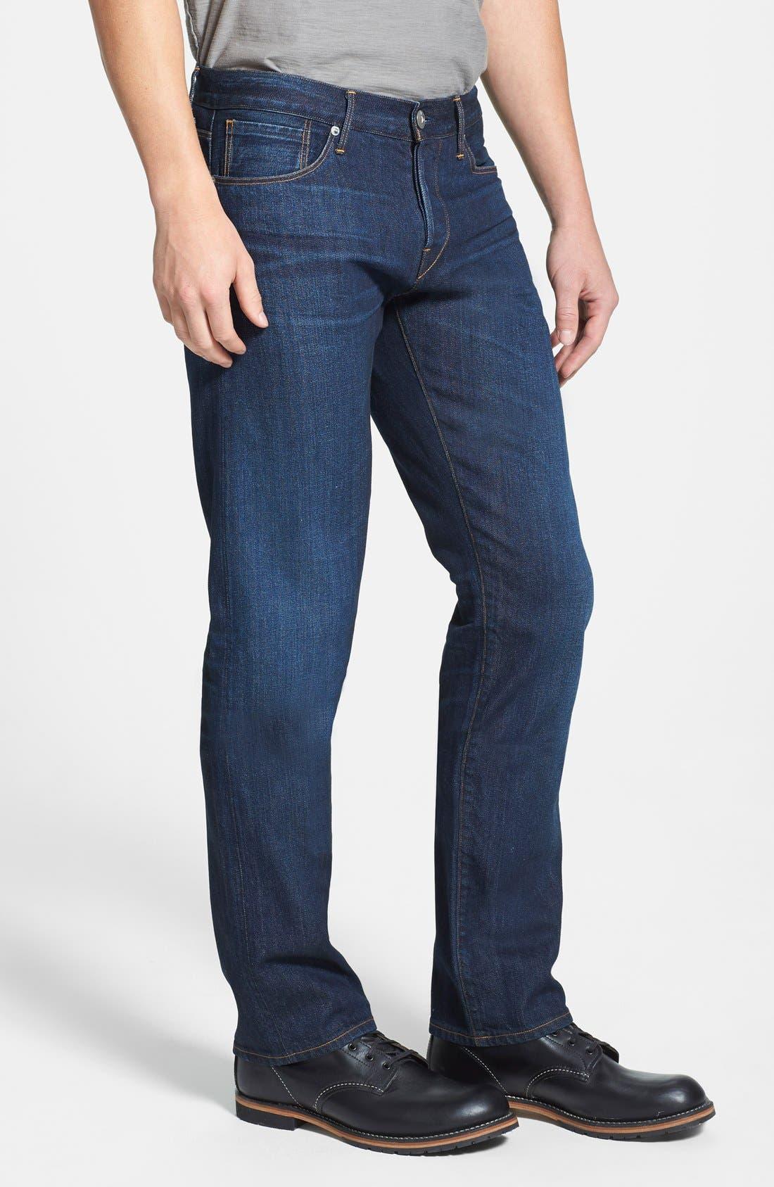 'M4' Straight Leg Selvedge Jeans,                             Alternate thumbnail 4, color,                             413