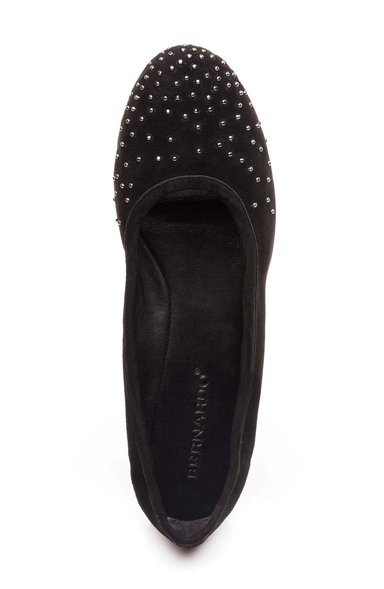 Dallas Studded Flat,                             Alternate thumbnail 5, color,                             001