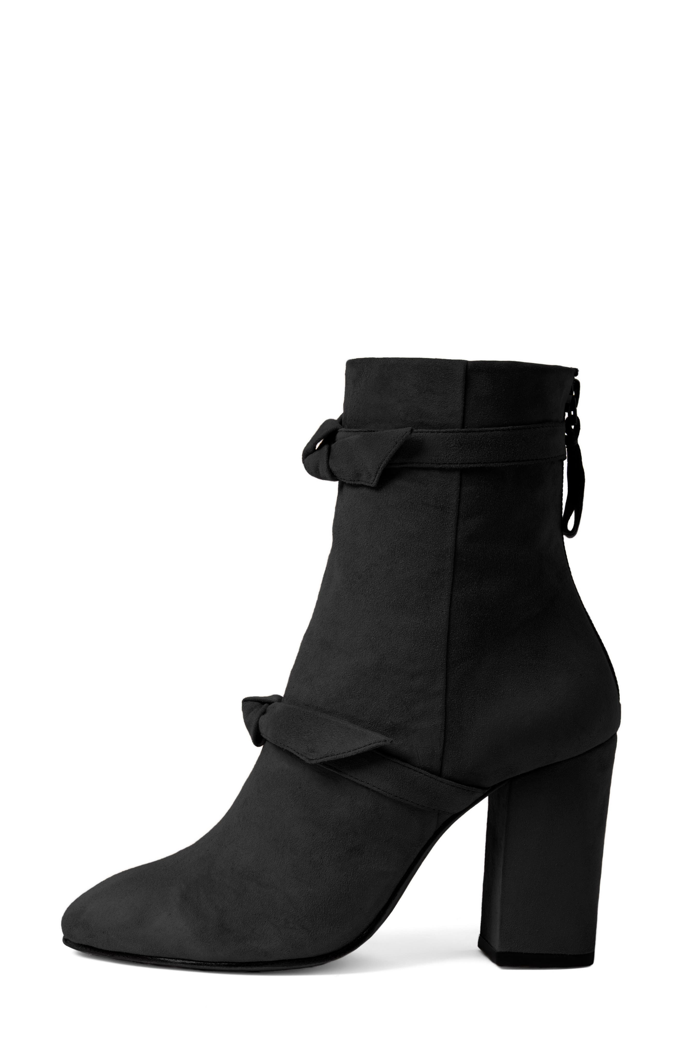 Lorraine Tie Bootie,                             Alternate thumbnail 3, color,                             001
