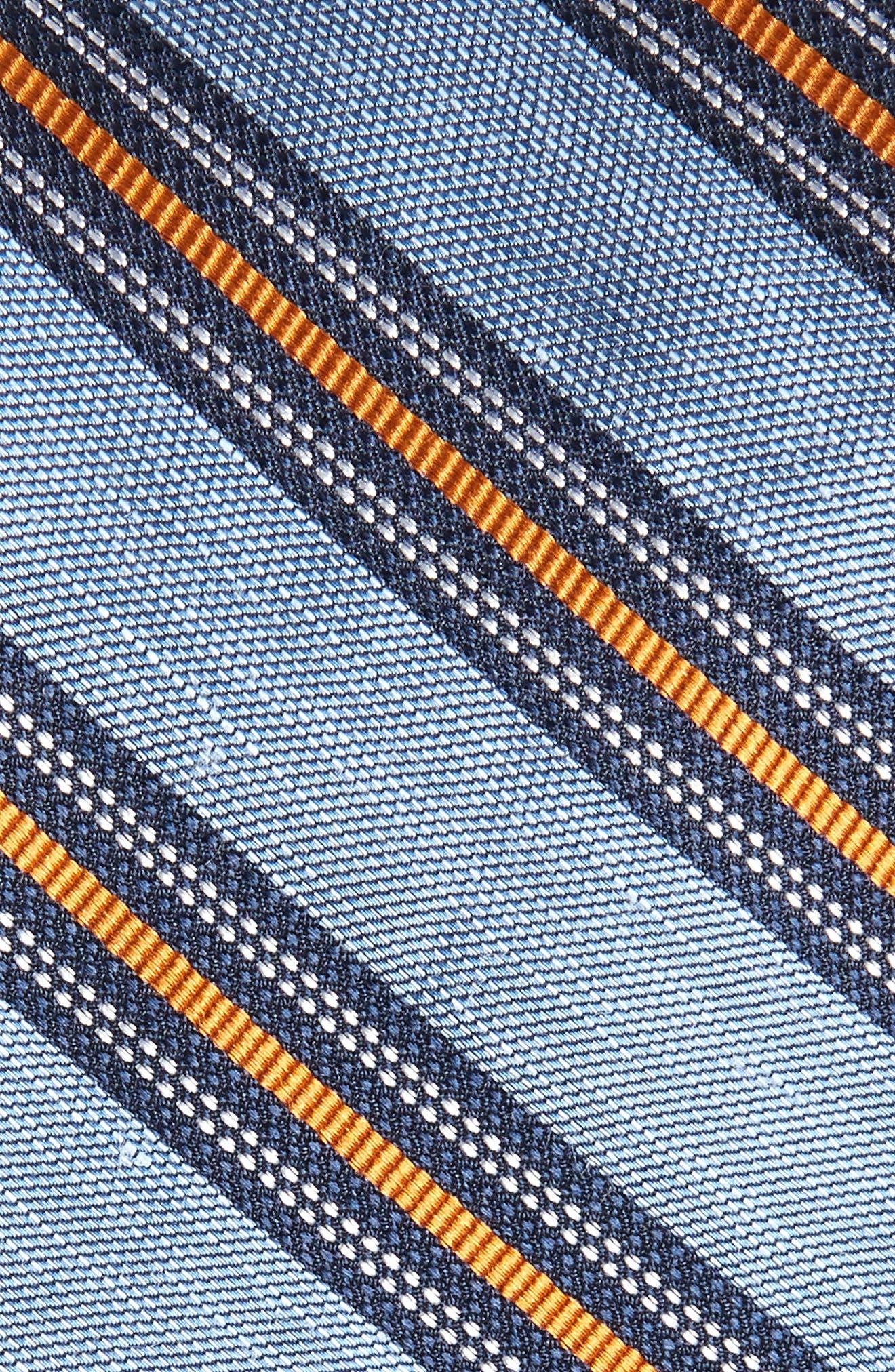 Rangel Stripe Silk & Linen Tie,                             Alternate thumbnail 2, color,                             LIGHT BLUE