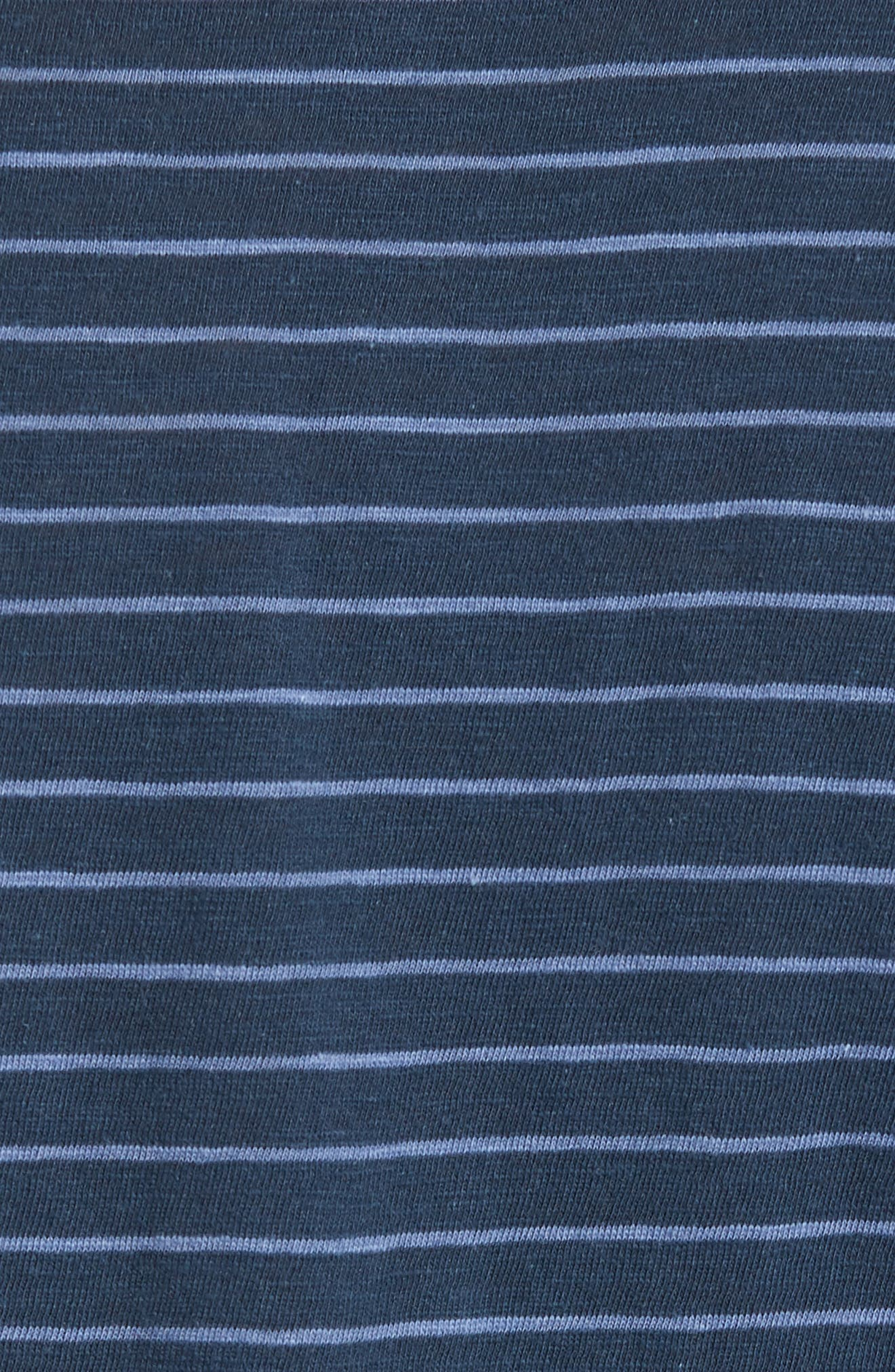Stripe Slim Fit Pocket T-Shirt,                             Alternate thumbnail 5, color,                             400