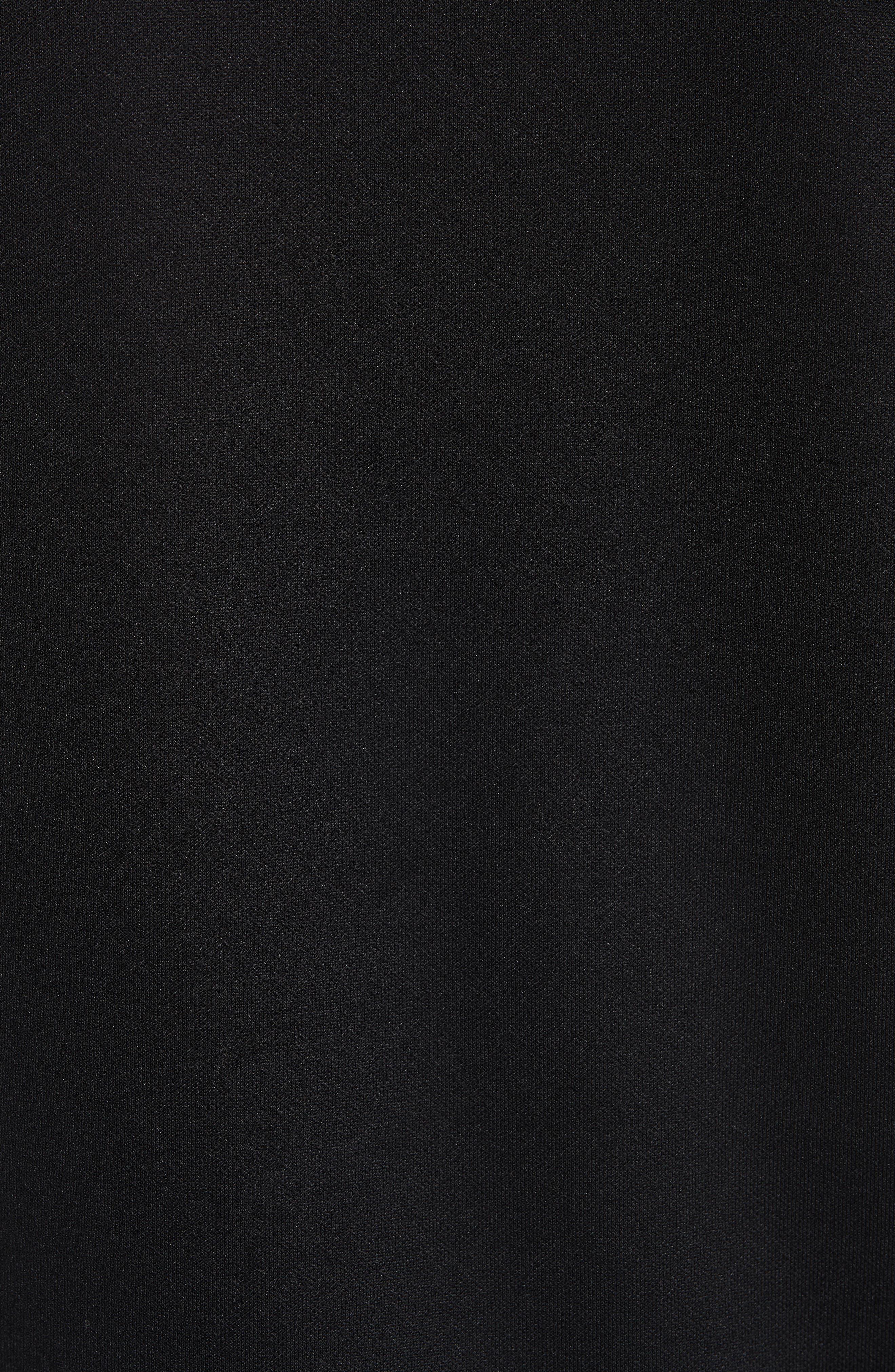 HELMUT LANG,                             Sport Stripe Print Sweatshirt,                             Alternate thumbnail 5, color,                             BLACK AND WHITE